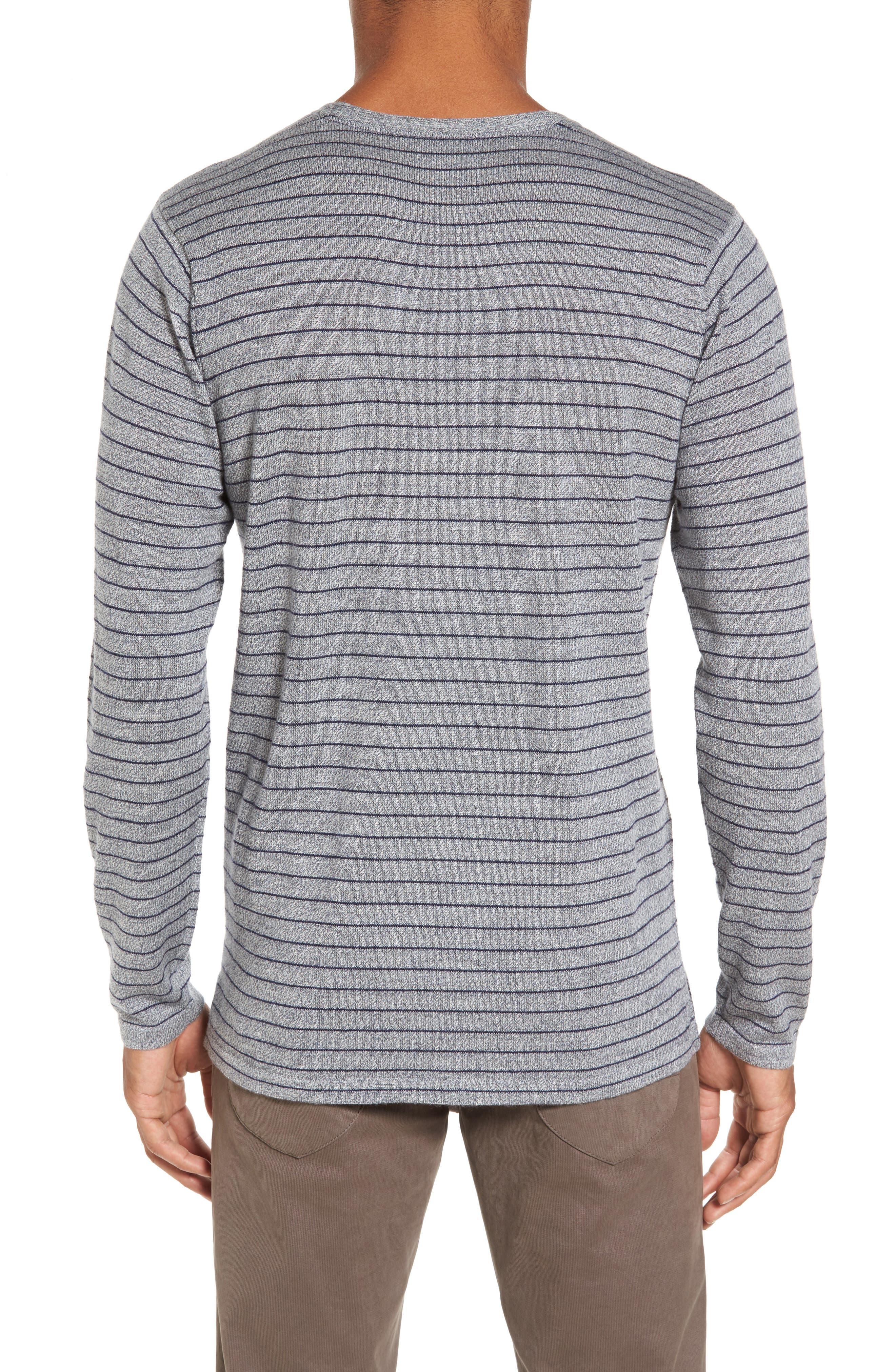 Nori Stripe Merino Wool T-Shirt,                             Alternate thumbnail 2, color,                             Heather Ink