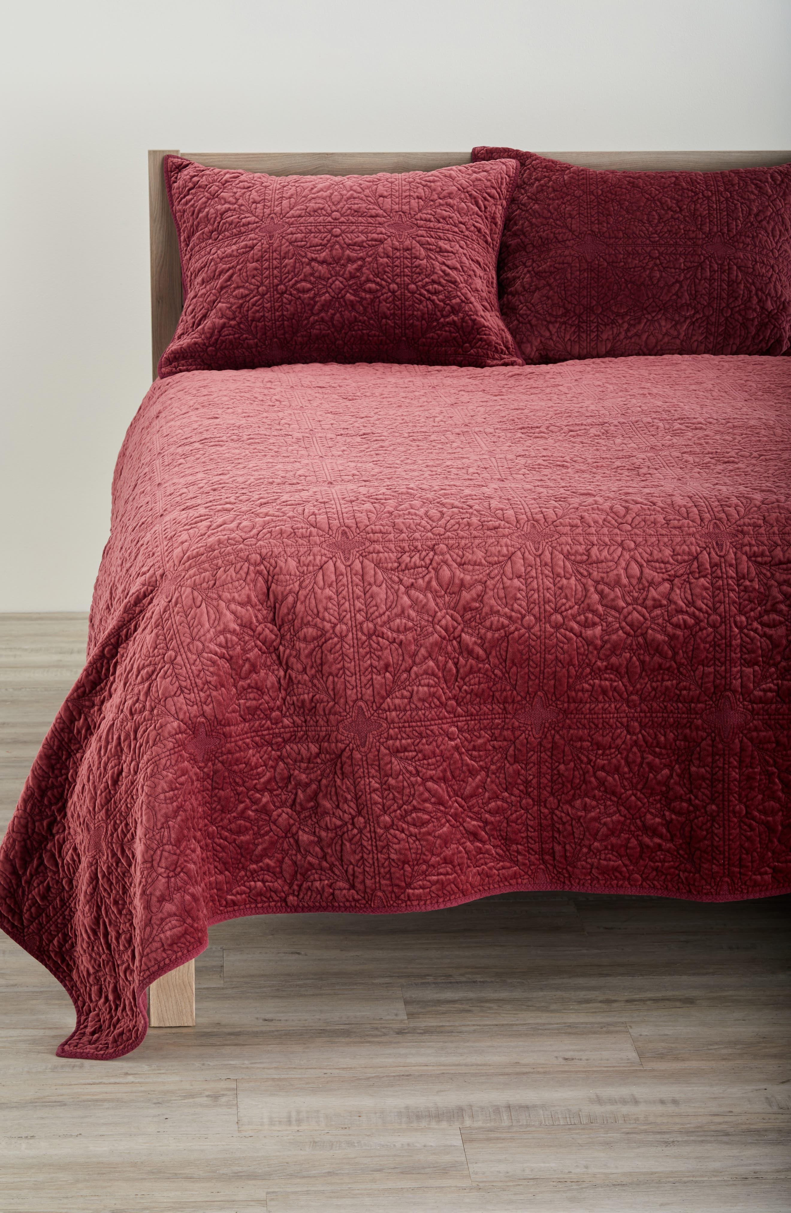 nordstrom at home washed velvet quilt