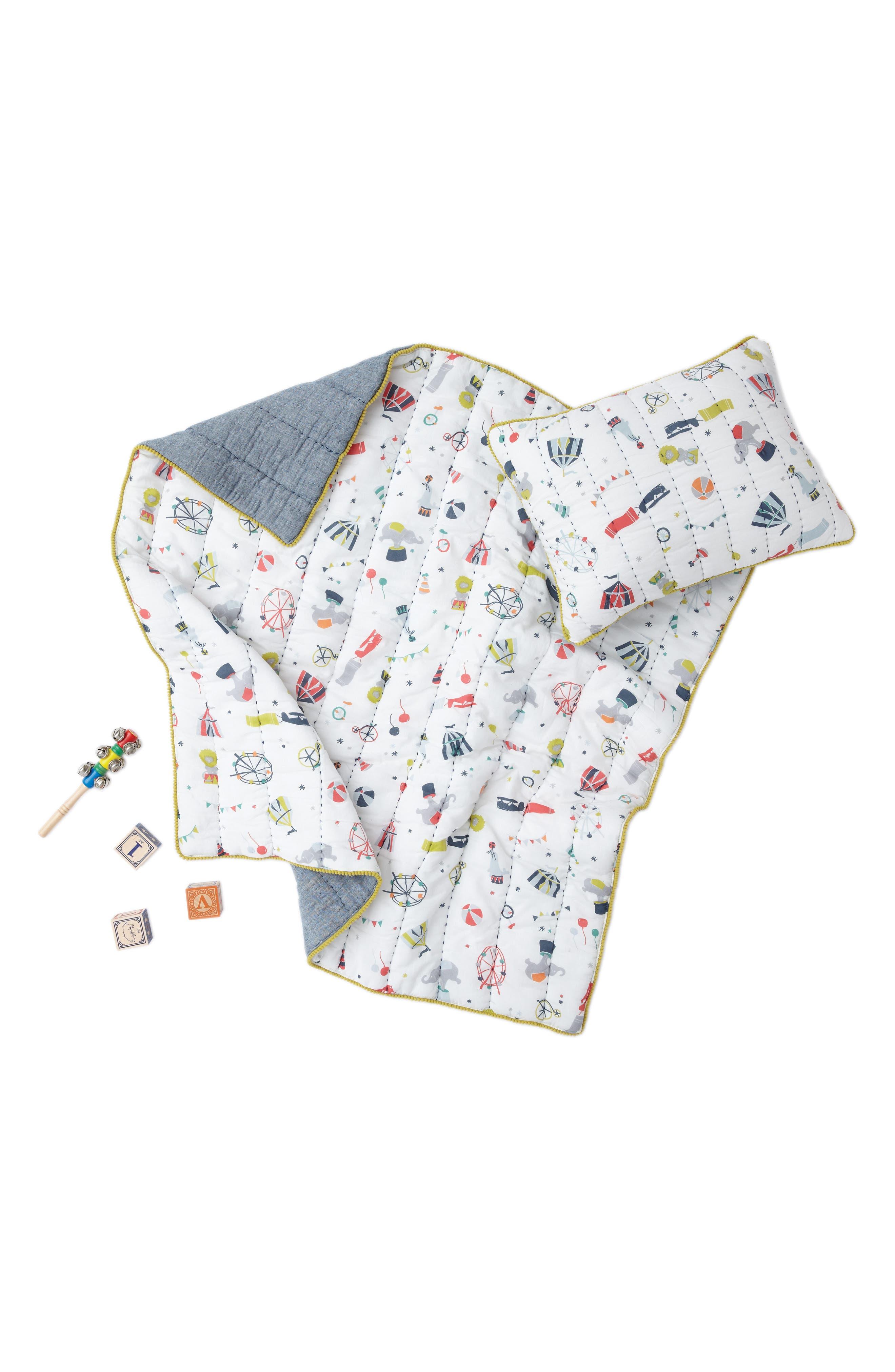 Alternate Image 1 Selected - Petit Pehr Big Top Print Quilt