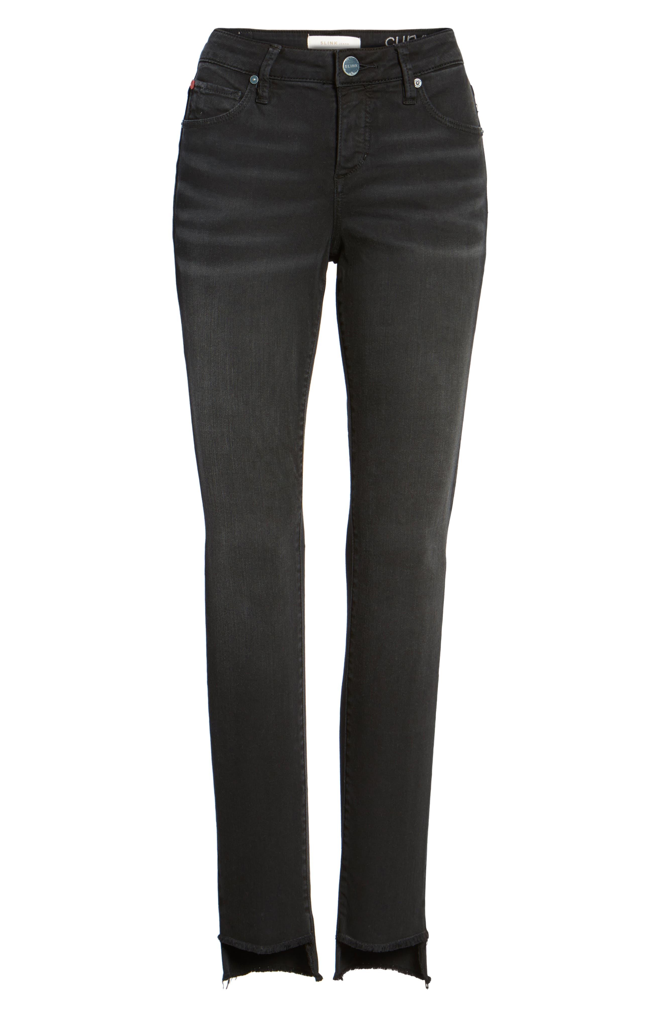 Alternate Image 6  - SLINK Jeans Step Hem Skinny Jeans (Mimi)