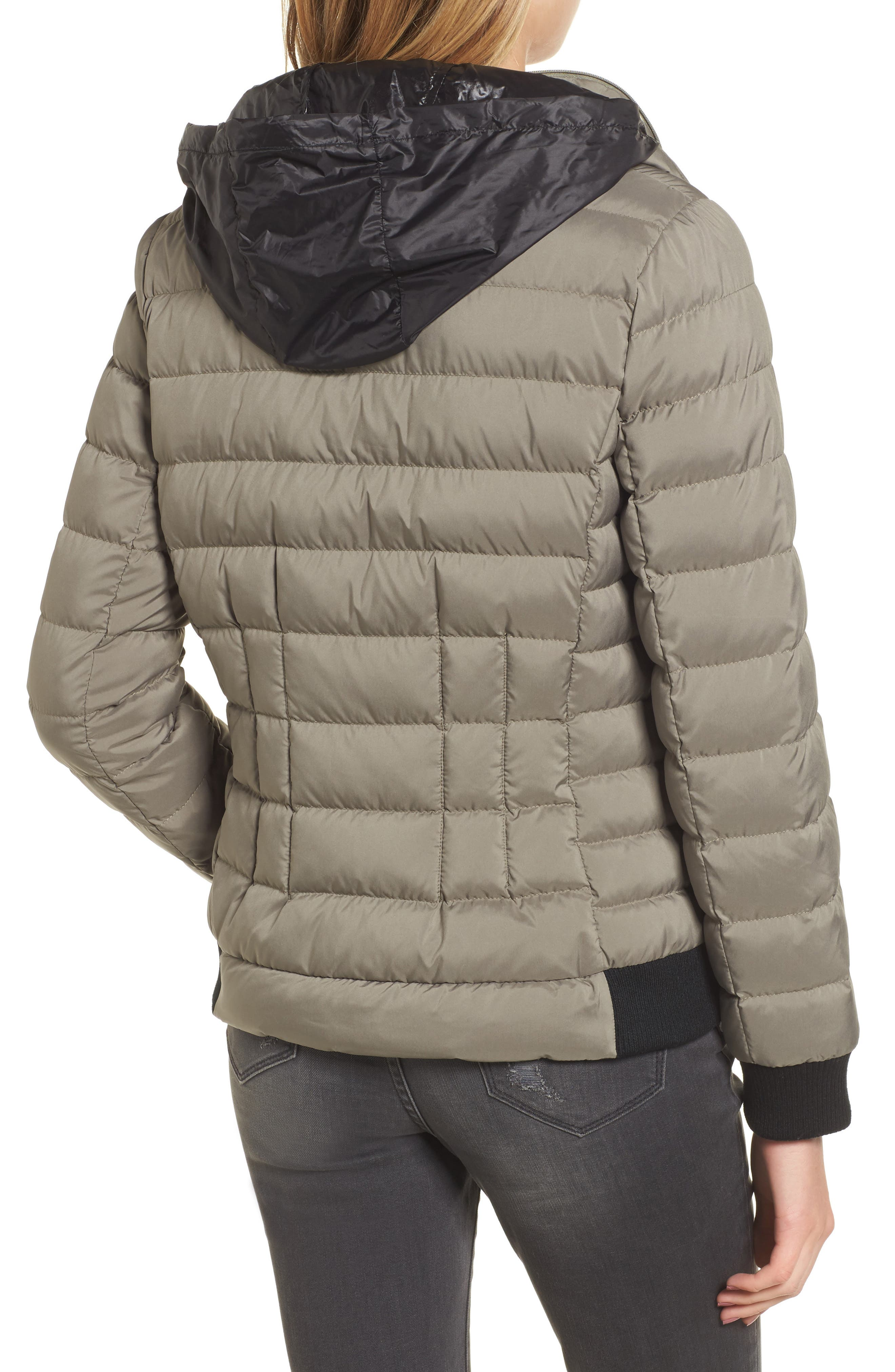 Hooded Packable Down & PrimaLoft<sup>®</sup> Coat,                             Alternate thumbnail 2, color,                             Green Tea