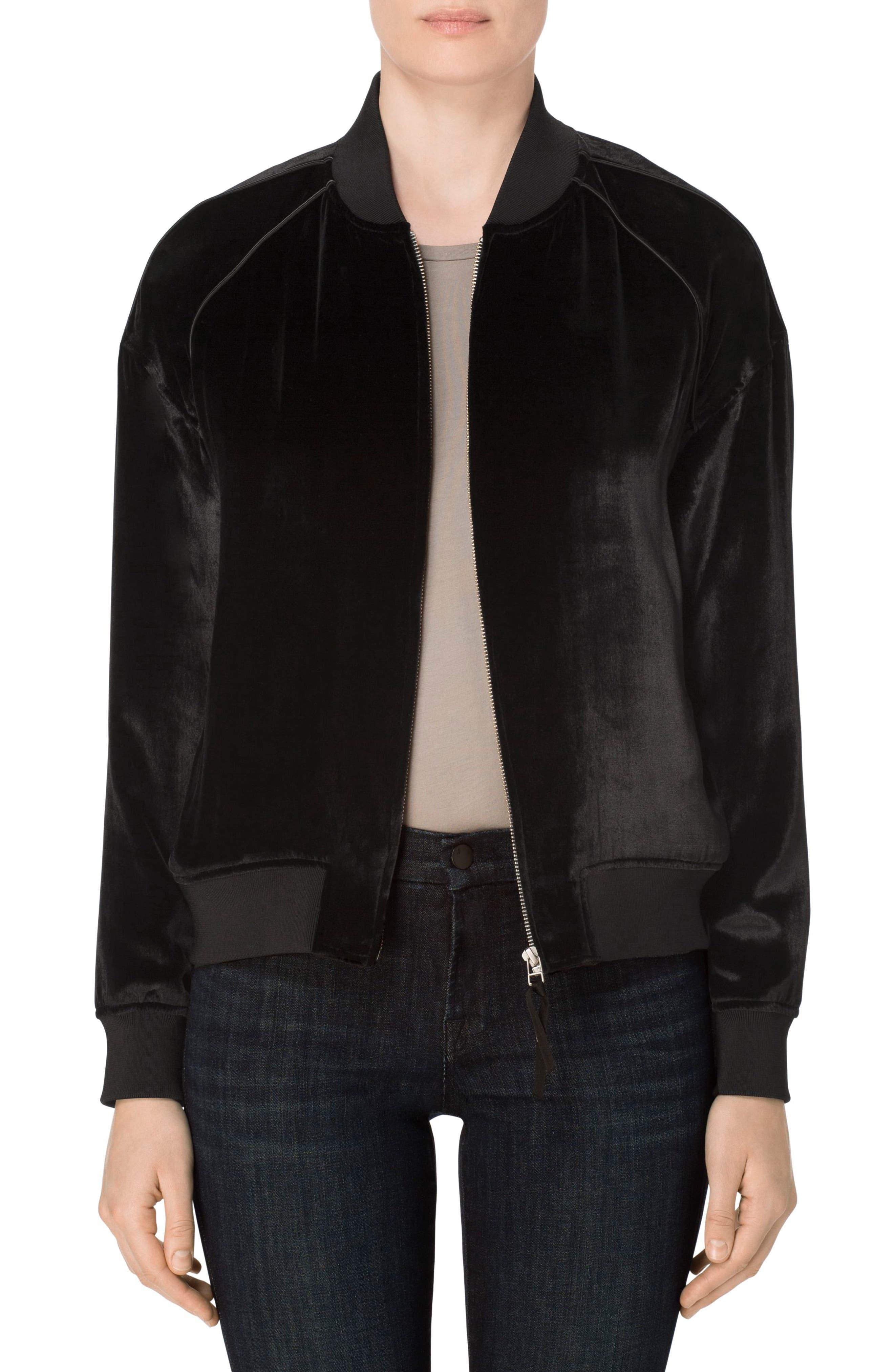 J Brand Pace Velvet Bomber Jacket