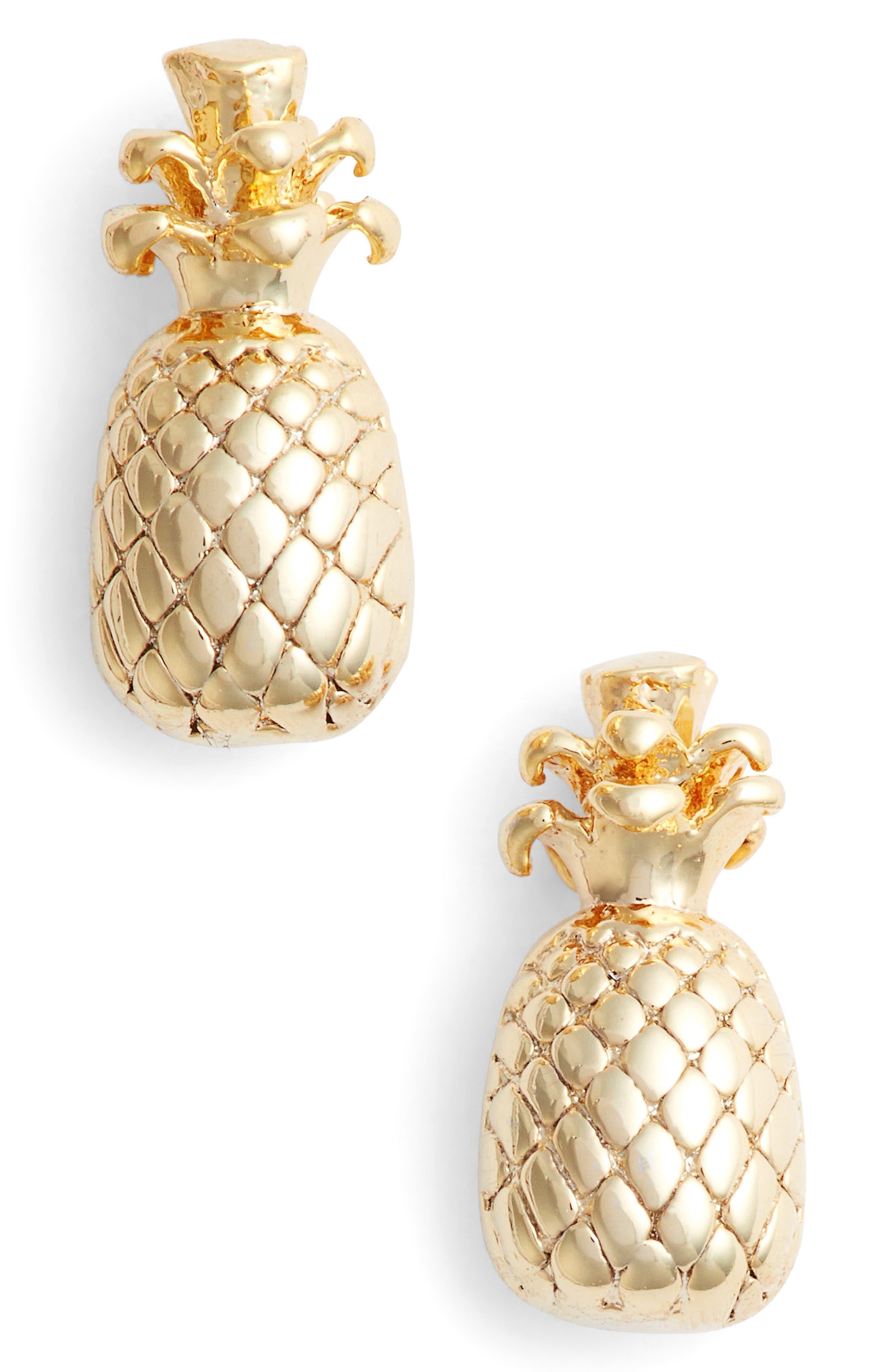 Alternate Image 1 Selected - Estella Bartlett Pineapple Stud Earrings