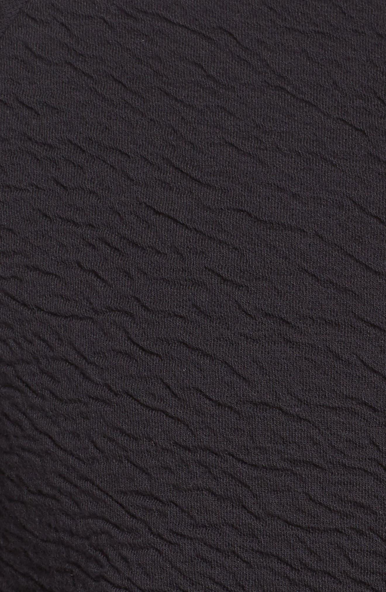 Heat Knit Drape Jacket,                             Alternate thumbnail 6, color,                             Bk