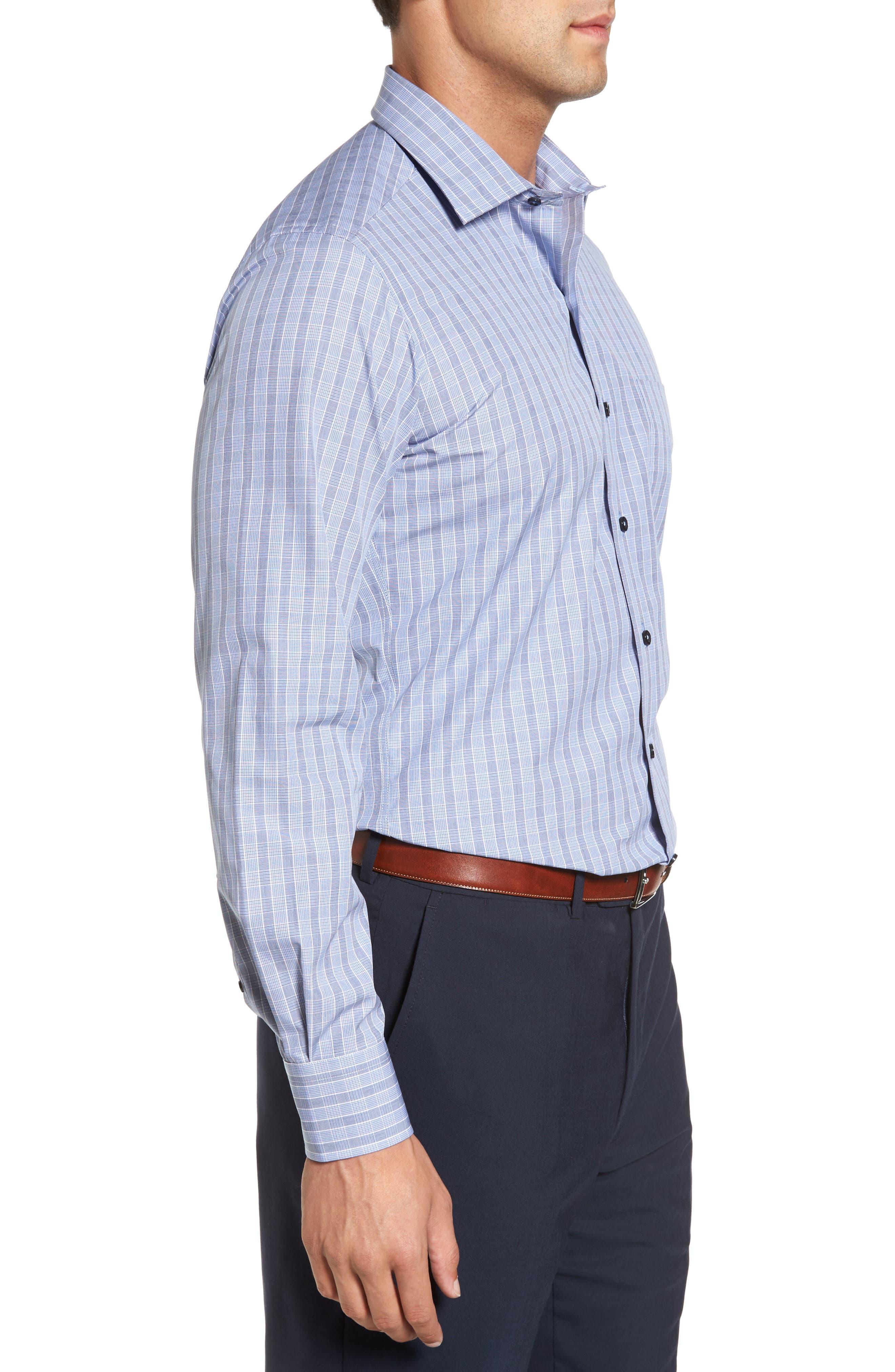 Alternate Image 3  - David Donahue Regular Fit Plaid Sport Shirt