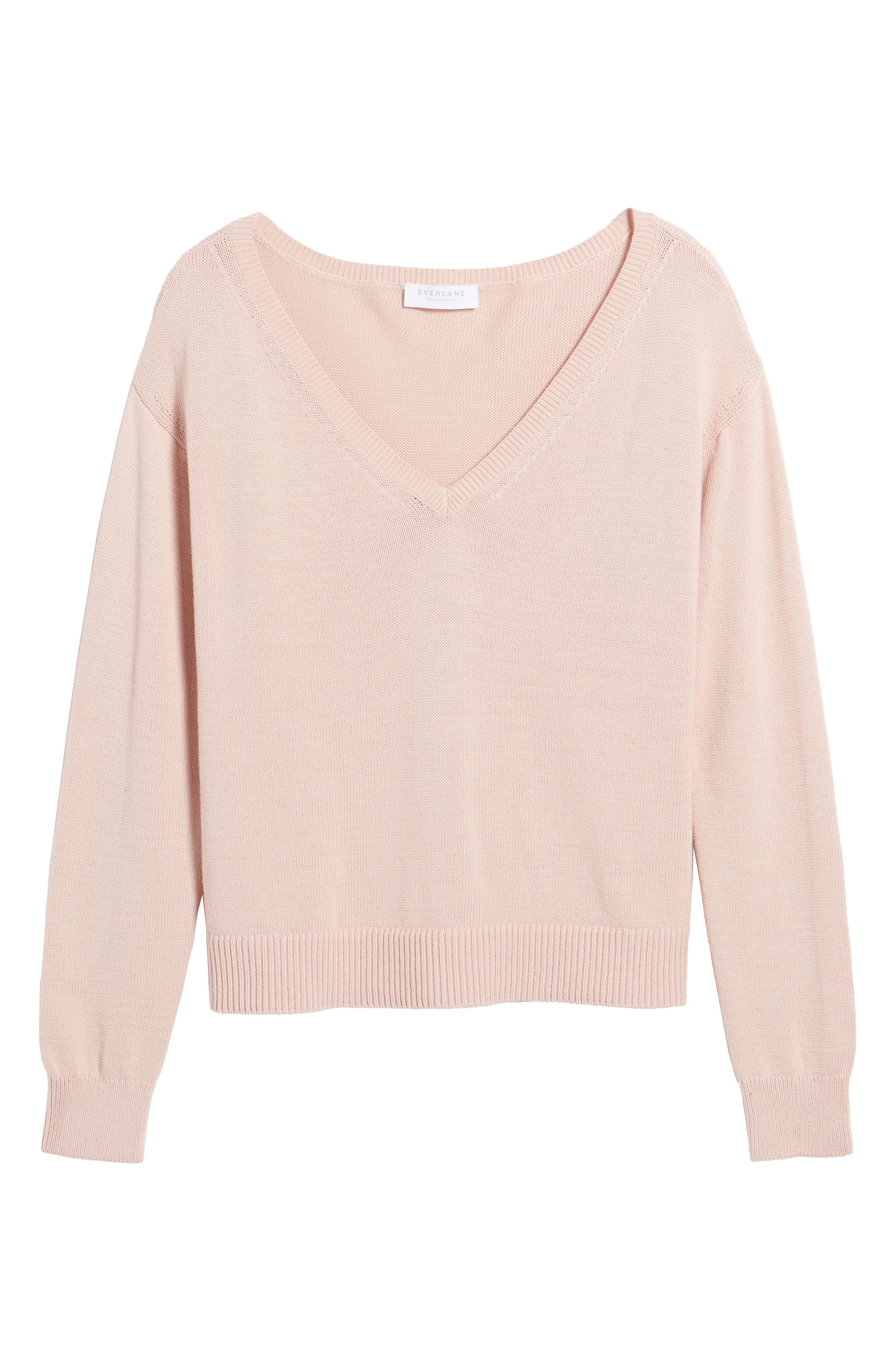 Alternate Image 5  - Everlane The Cotton Long Sleeve V-Neck Crop Sweater
