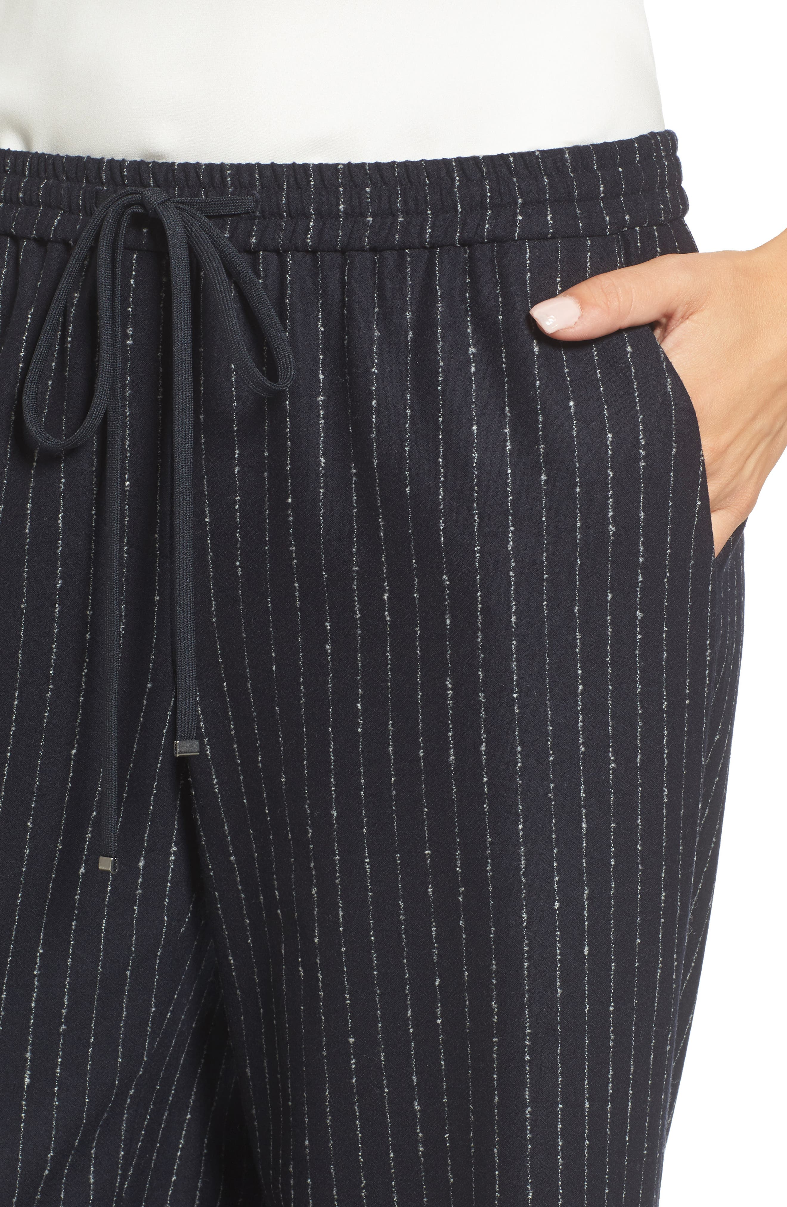 Alternate Image 4  - Nordstrom Signature Wide-Leg Crop Pants