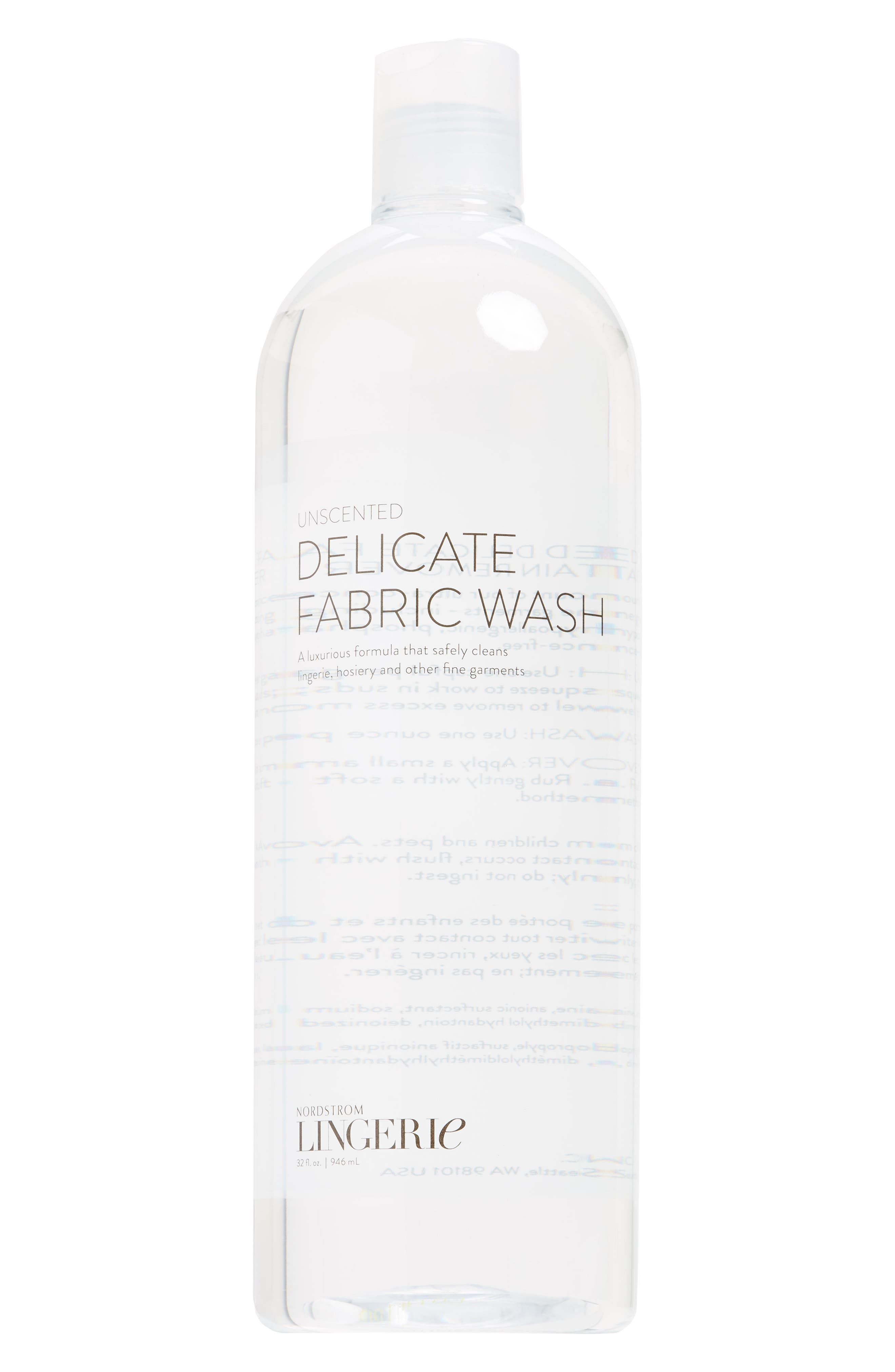 32 oz. Fragrance Free Lingerie Wash,                             Main thumbnail 1, color,                             Clear