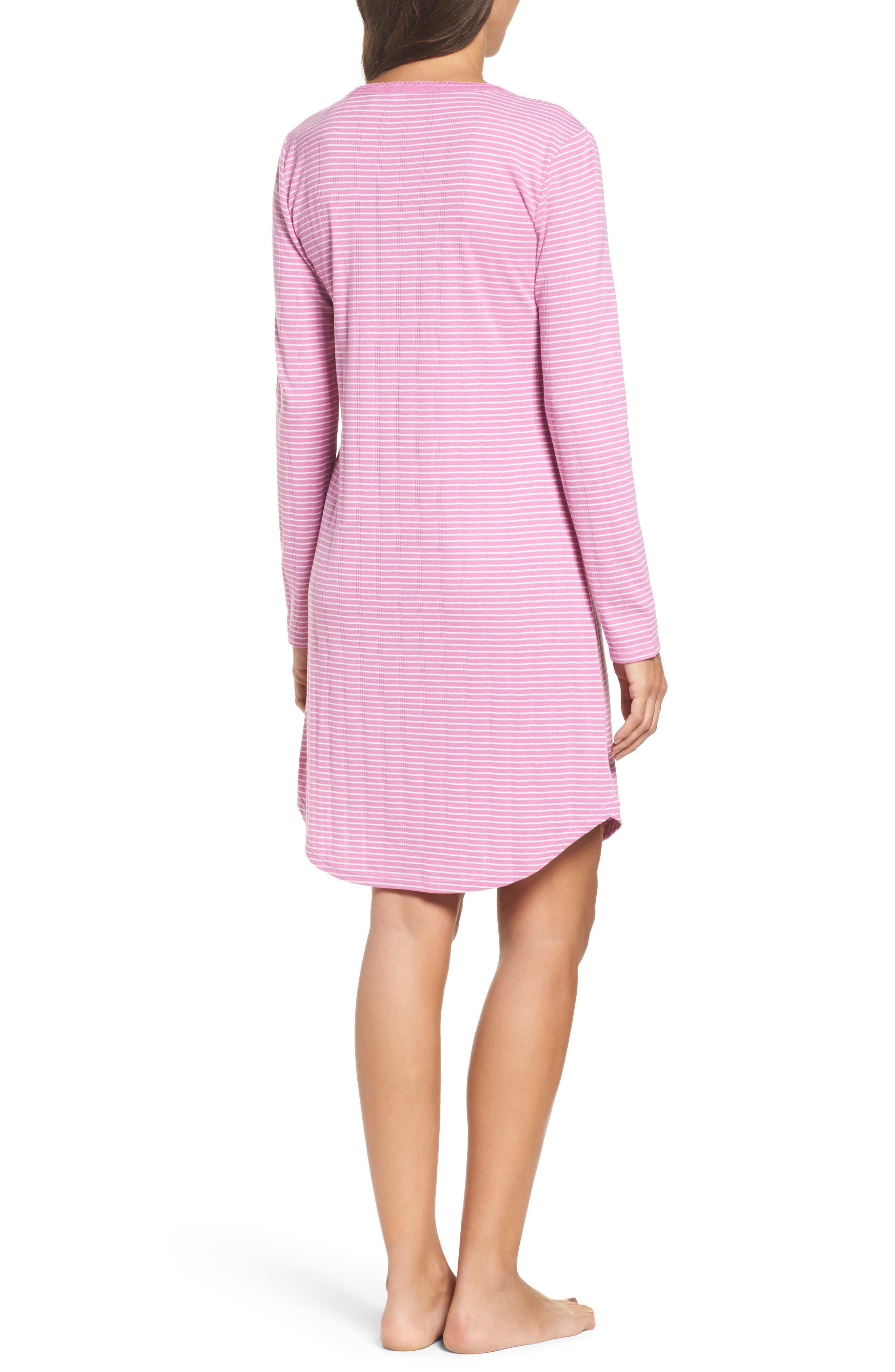 Alternate Image 2  - Lauren Ralph Lauren Stripe Henley Sleep Shirt