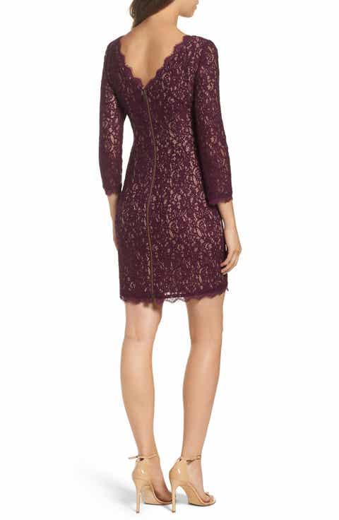 Adrianna Papell Lace Overlay Sheath Dress Regular Petite