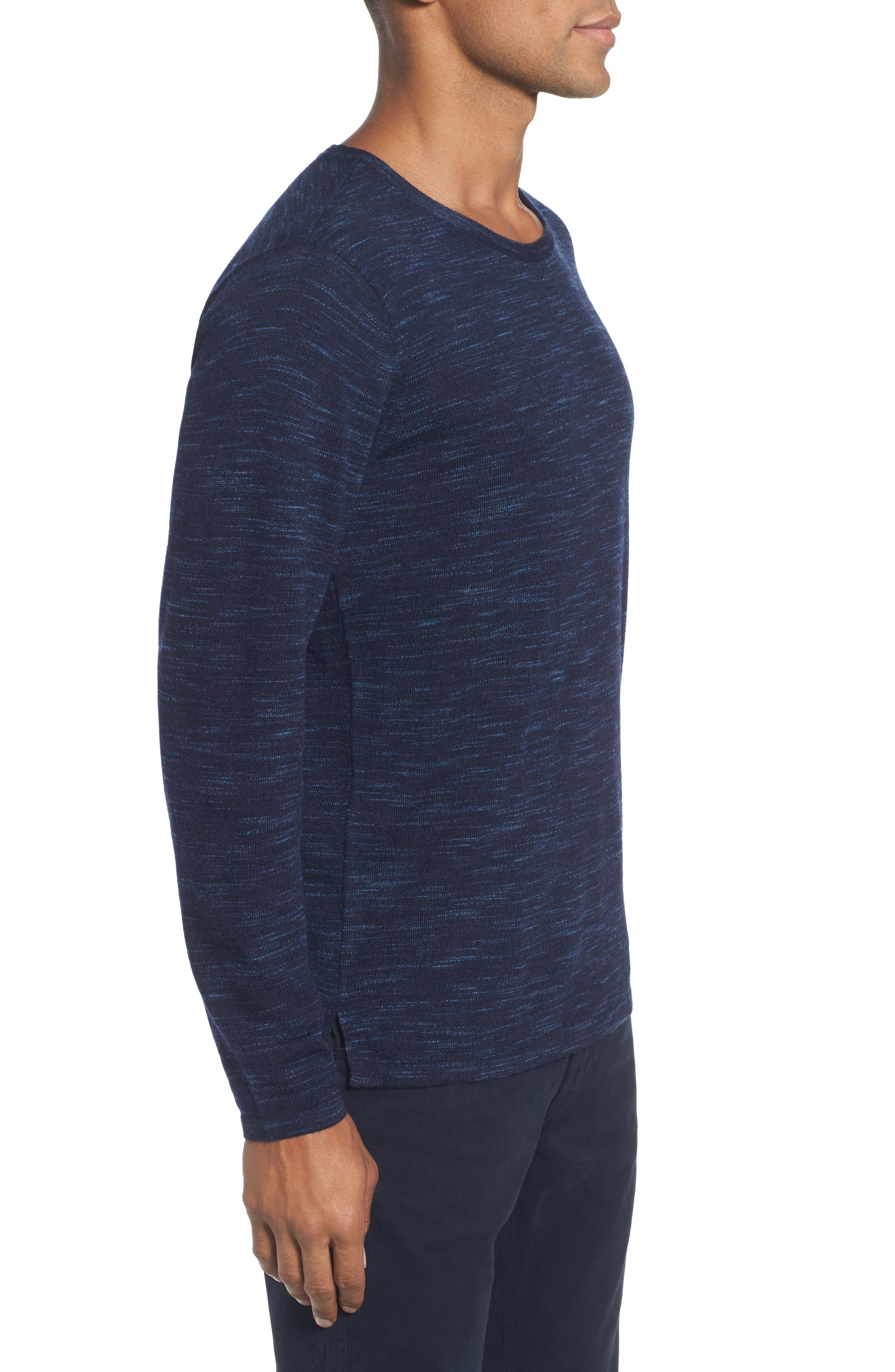 Merino Wool T-Shirt,                             Alternate thumbnail 3, color,                             Stridden Blazer