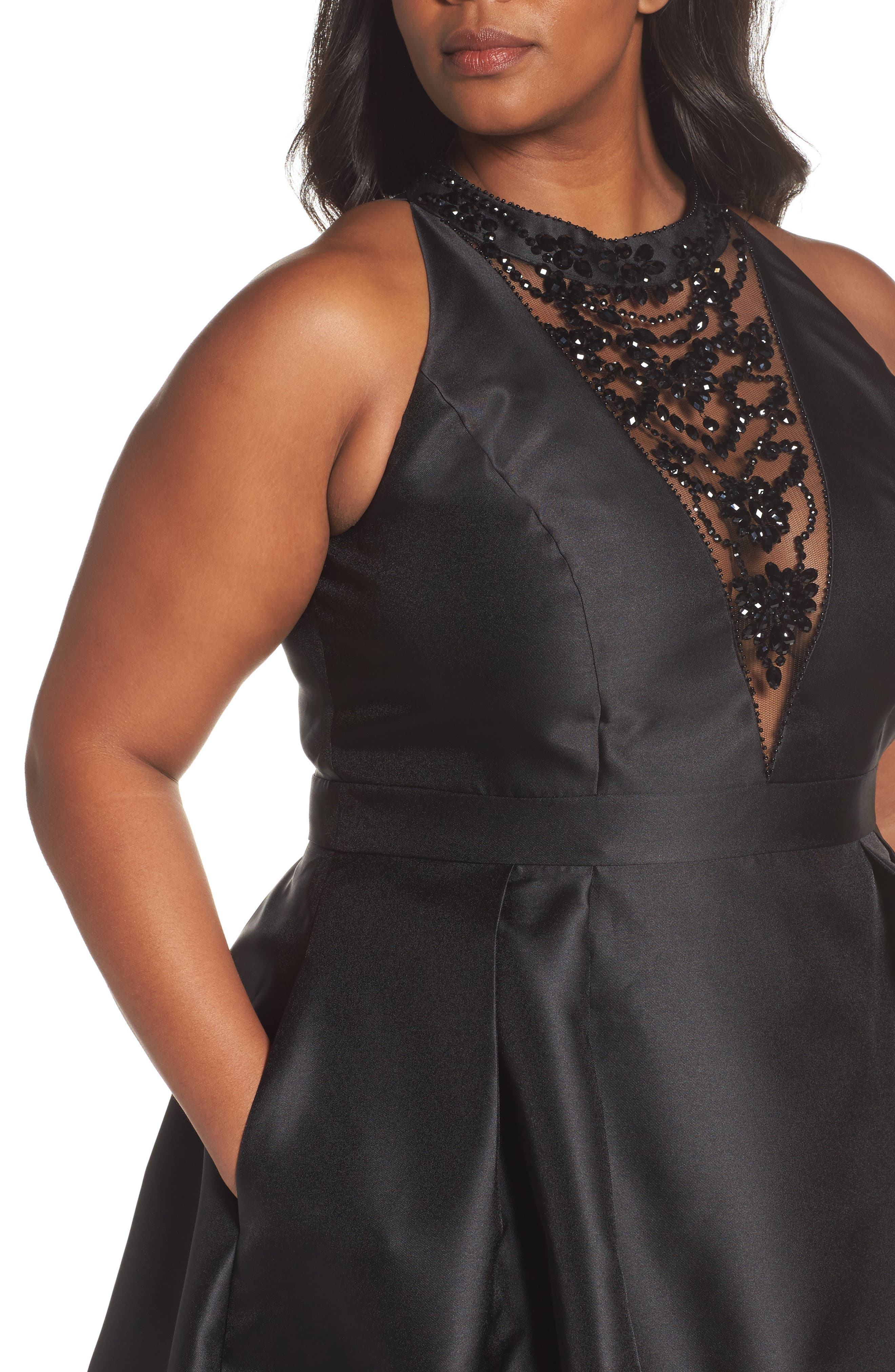 Alternate Image 4  - Adriana Papell Beaded Fit & Flare Dress (Plus Size)