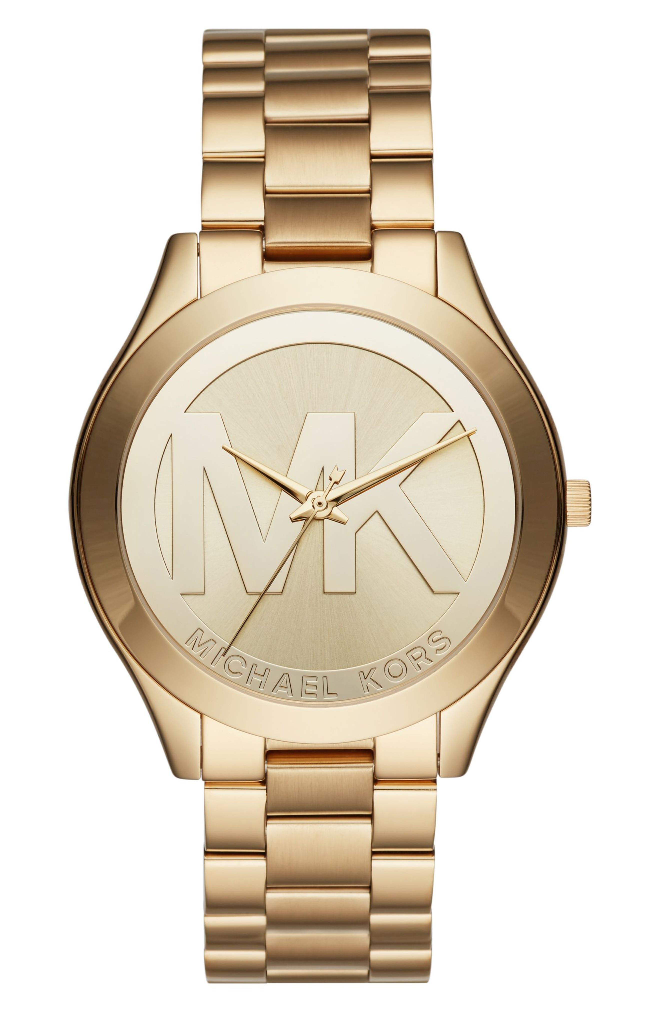 Main Image - Michael Kors Slim Runway Bracelet Watch, 40mm