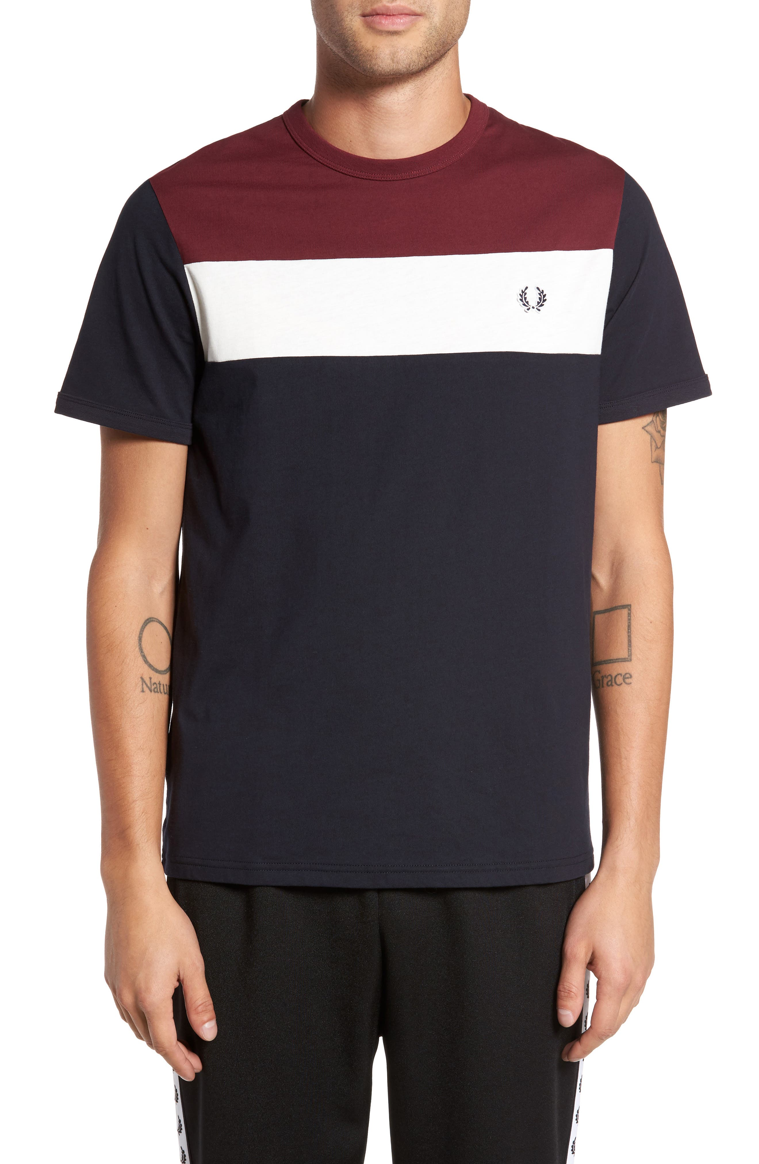 Alternate Image 1 Selected - Fred Perry Colorblock T-Shirt