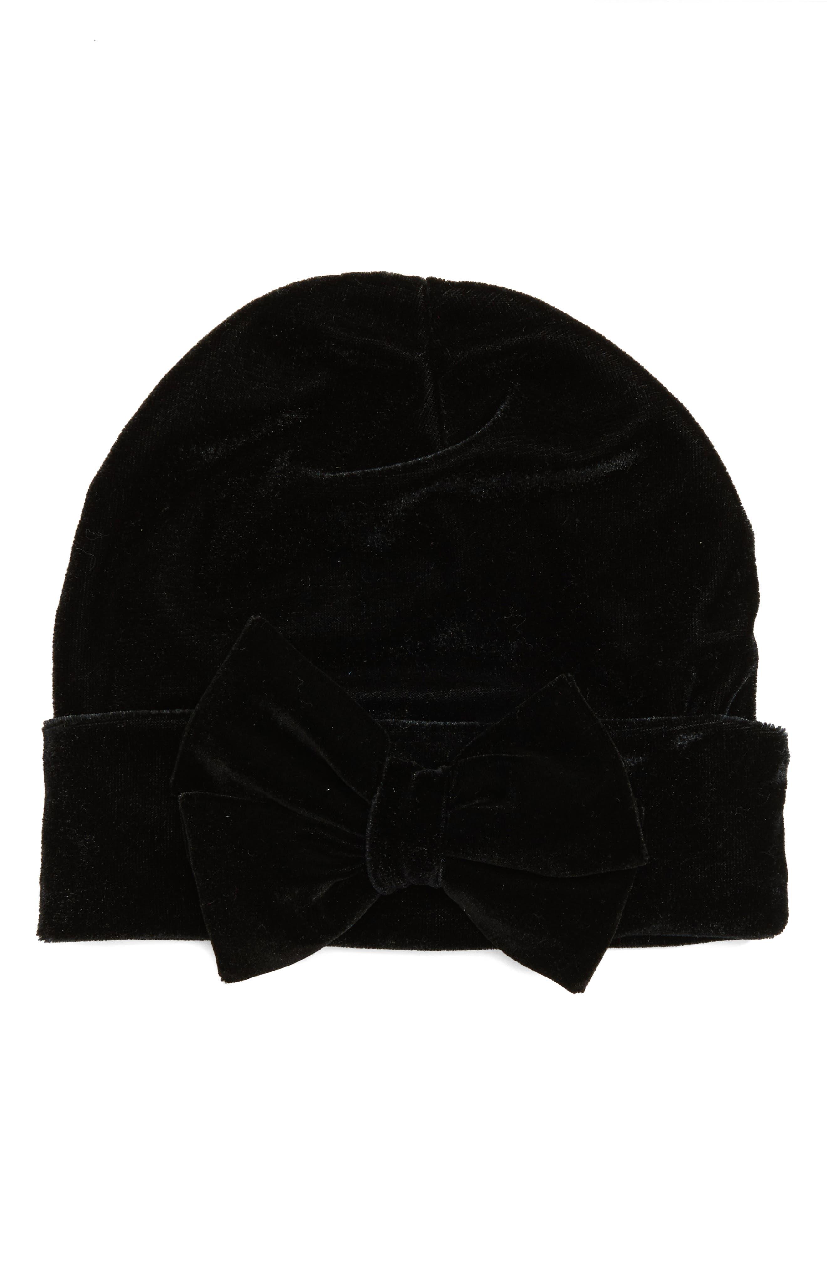 PLH Bows & Laces Velvet Beanie (Baby Girls)