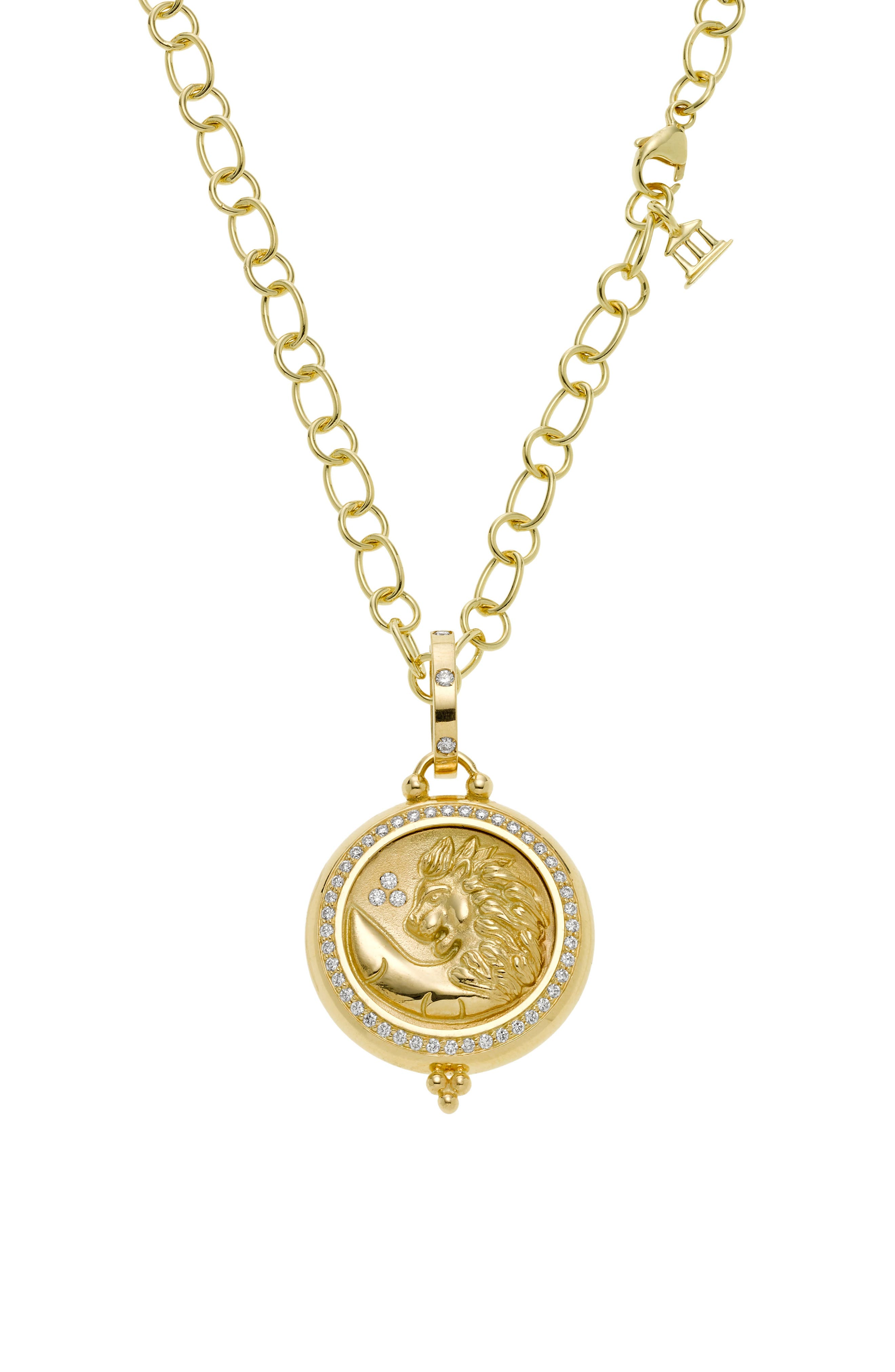 Temple St. Clair Charms Pendant,                             Alternate thumbnail 3, color,                             Yellow Gold