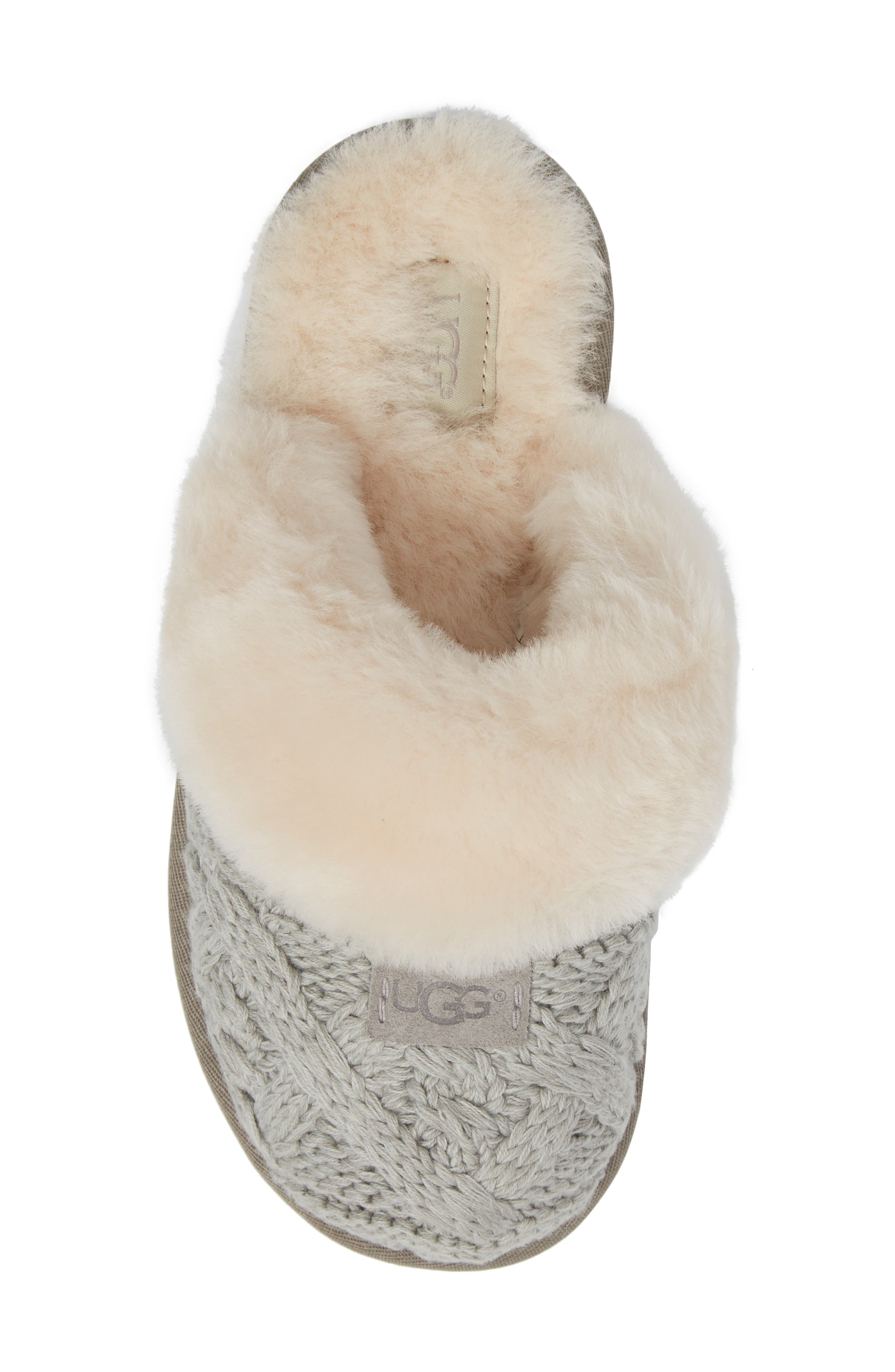 Cozy Cable Slipper,                             Alternate thumbnail 6, color,                             Seal Fabric