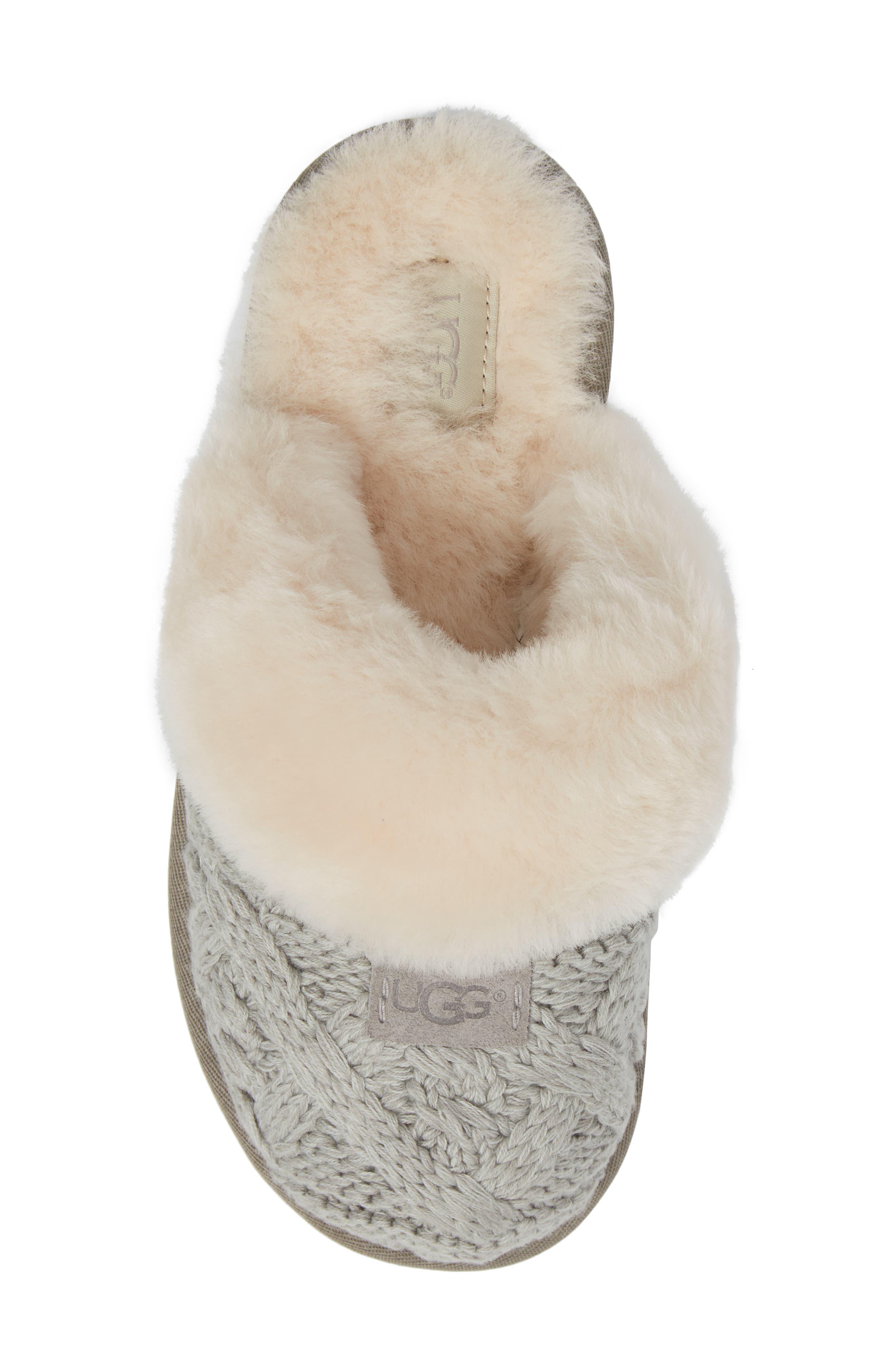 Alternate Image 5  - UGG® Cozy Cable Slipper (Women)