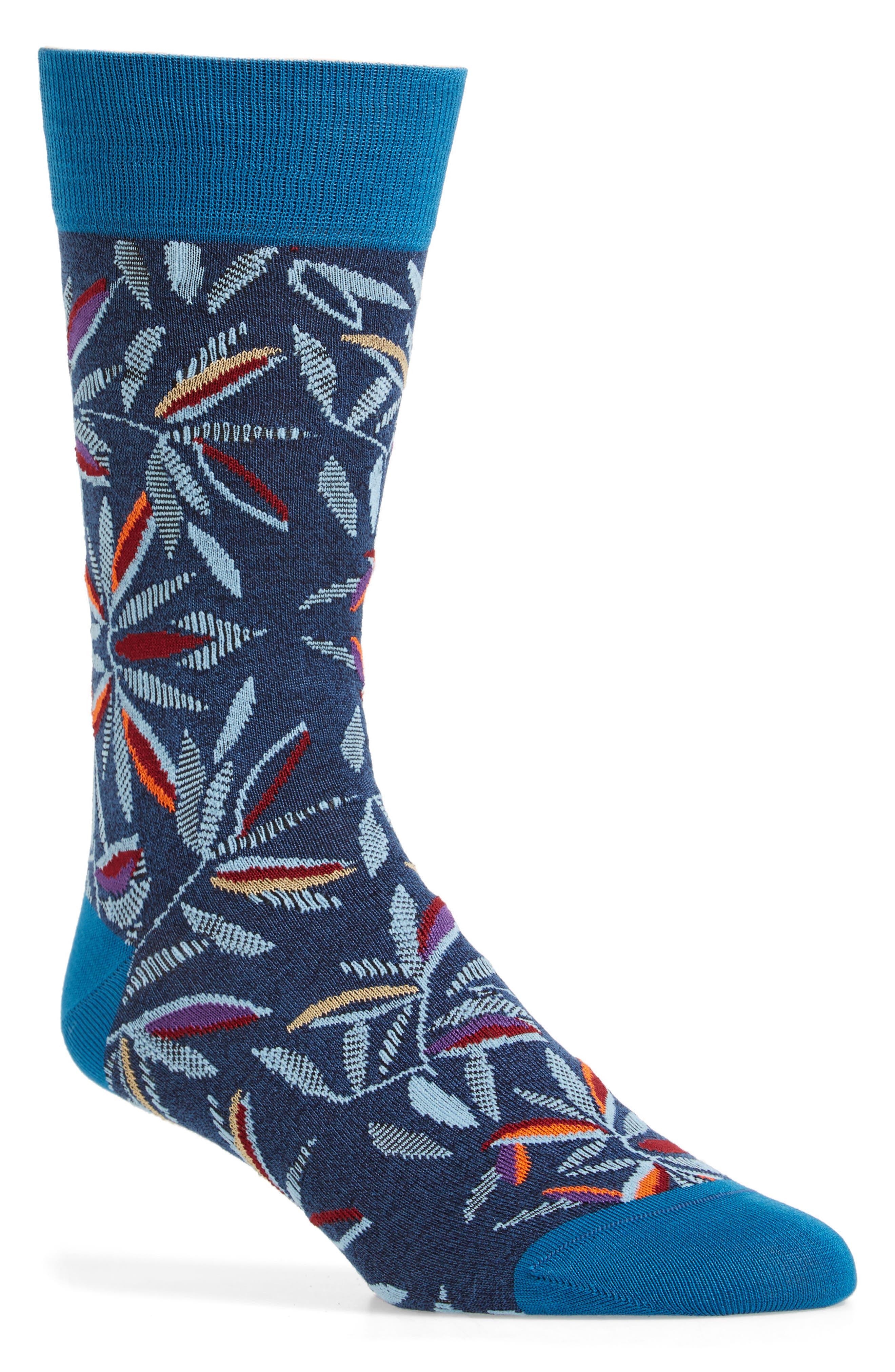 Tropical Socks,                         Main,                         color, Navy