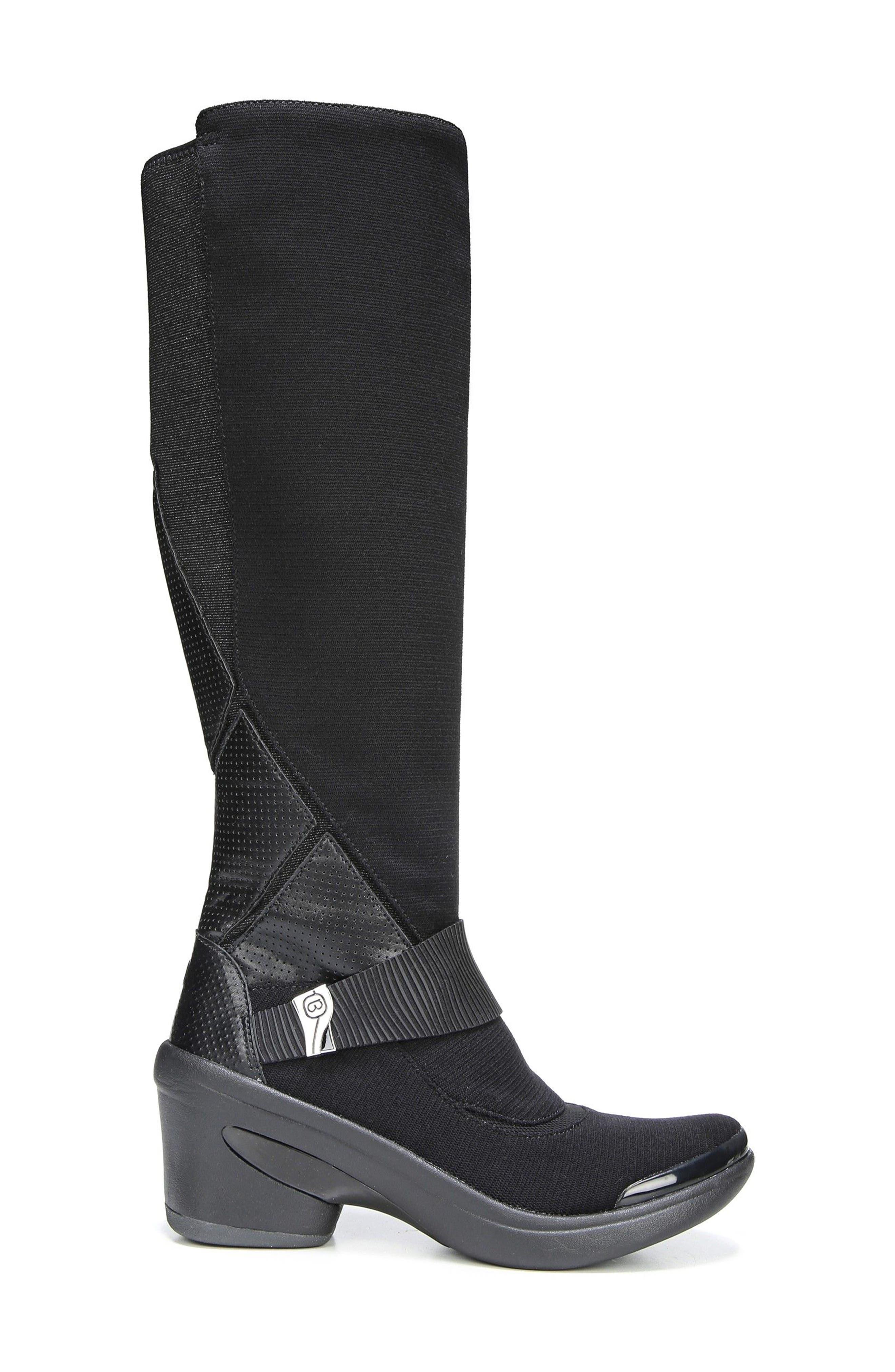 Enchanted Boot,                             Alternate thumbnail 3, color,                             Black Fabric