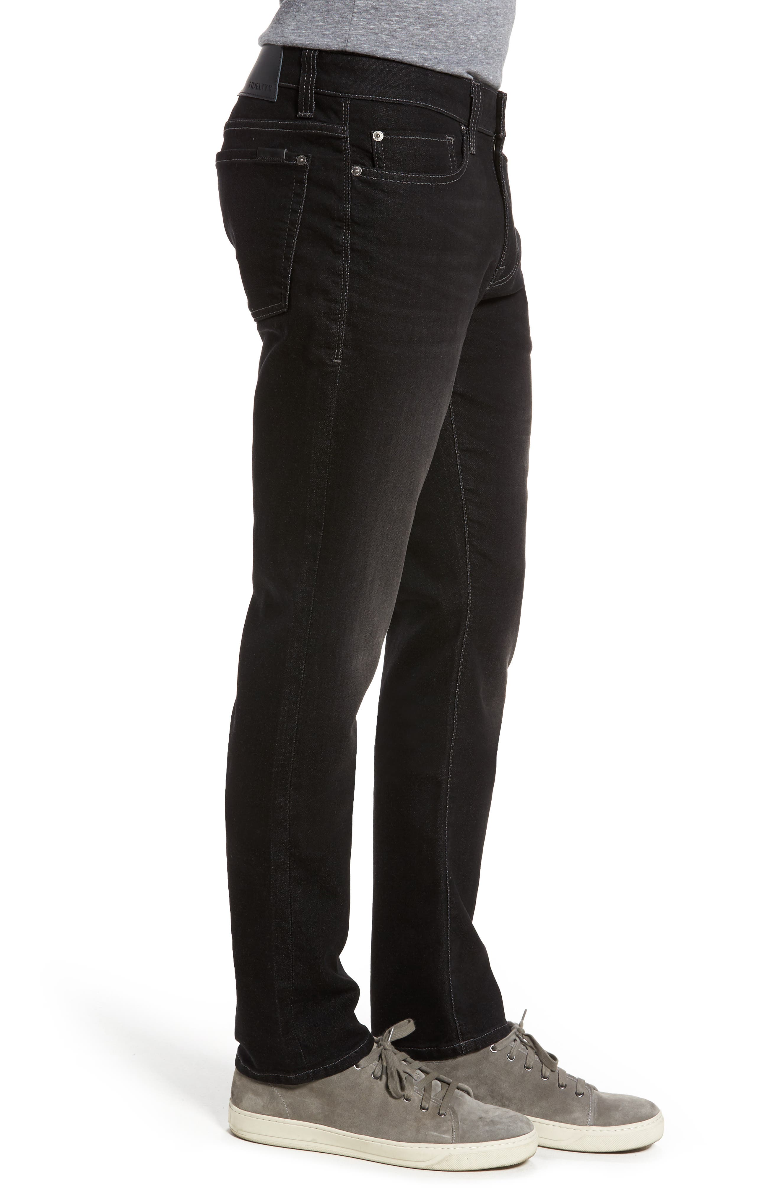 Torino Slim Fit Jeans,                             Alternate thumbnail 3, color,                             Oxy Black On Black