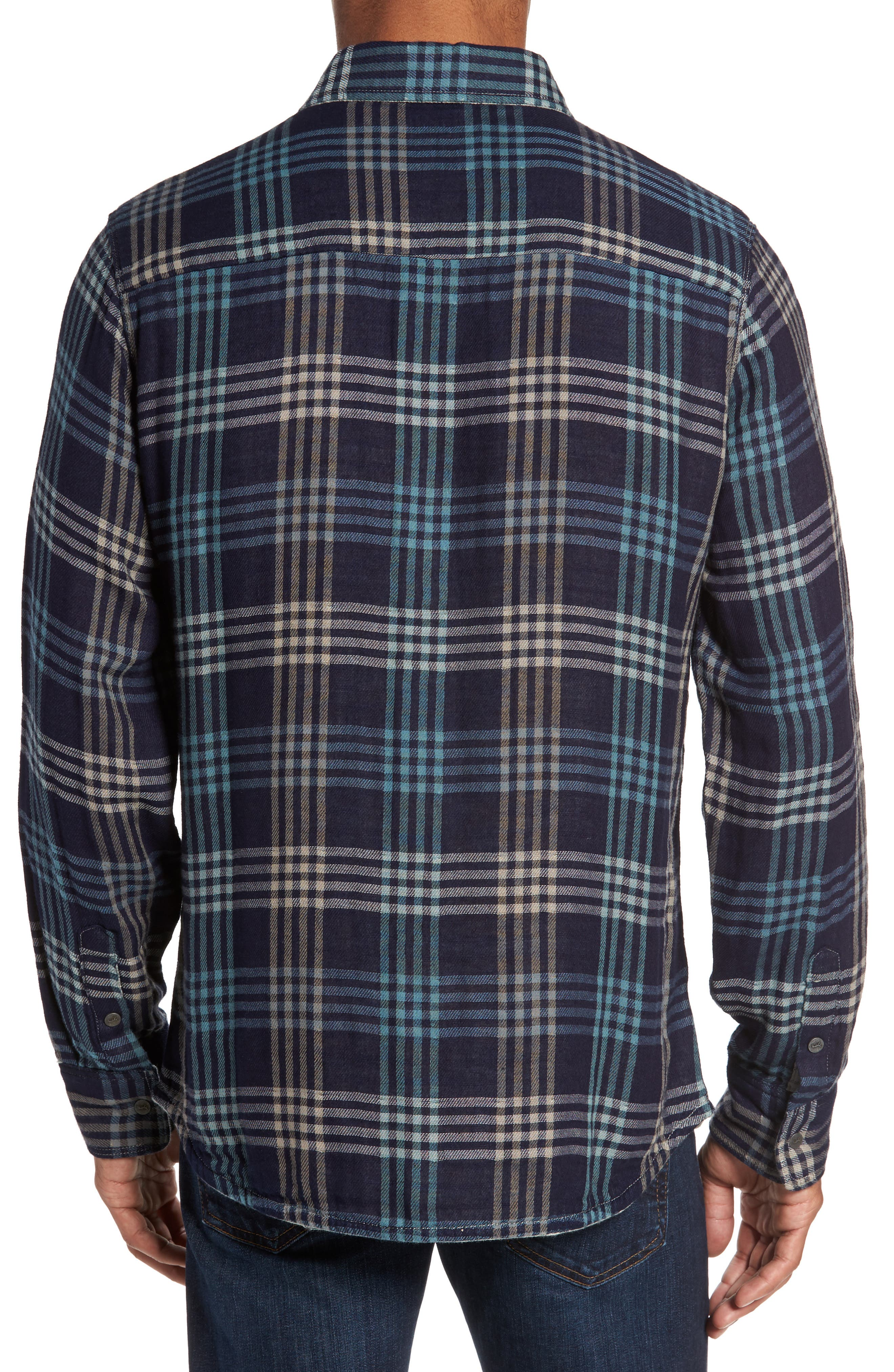 Cypress Reversible Twill Shirt,                             Alternate thumbnail 3, color,                             Inkwell
