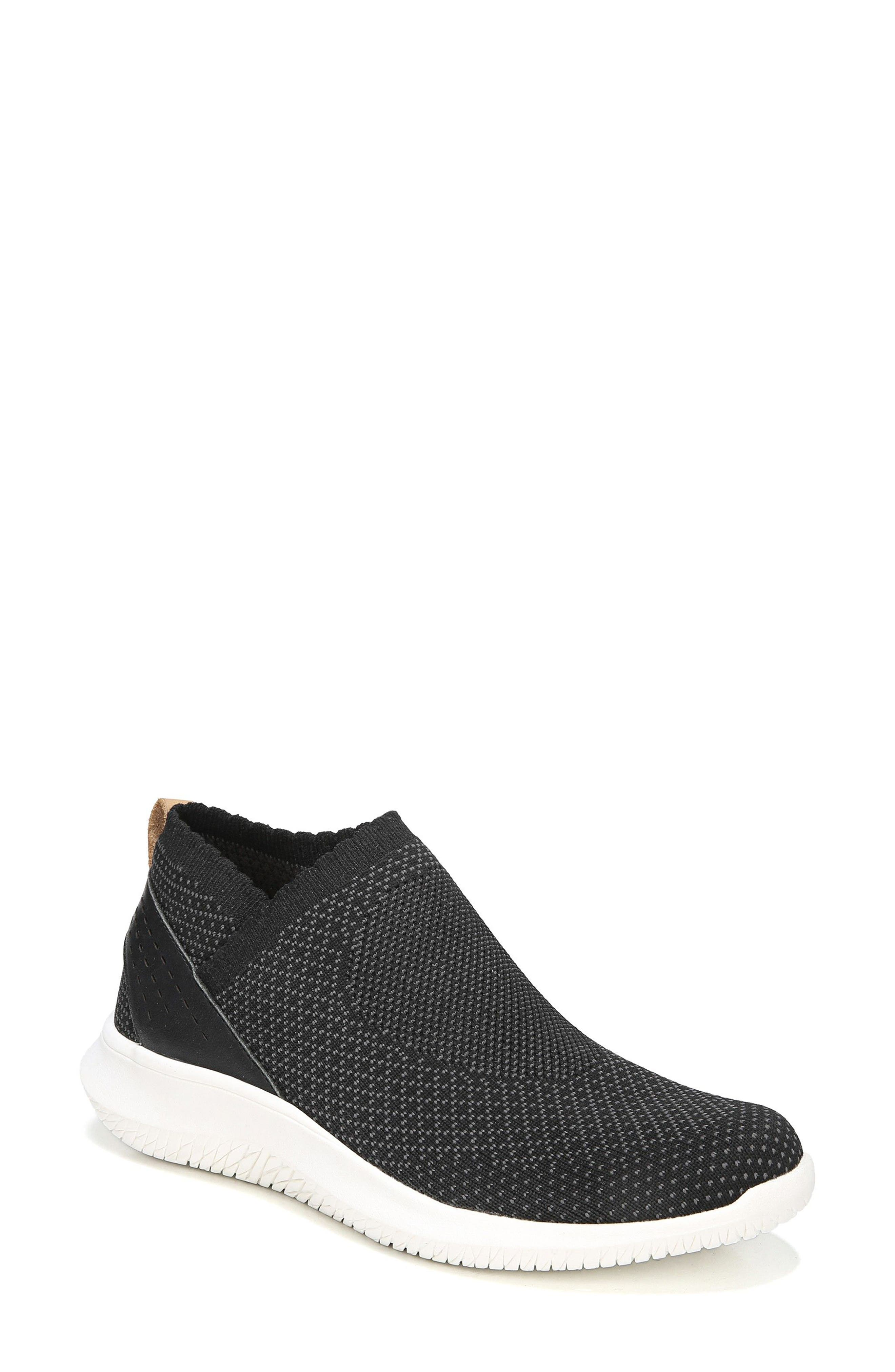 Fierce Knit Slip-On Sneaker,                             Main thumbnail 1, color,                             Black Knit Fabric