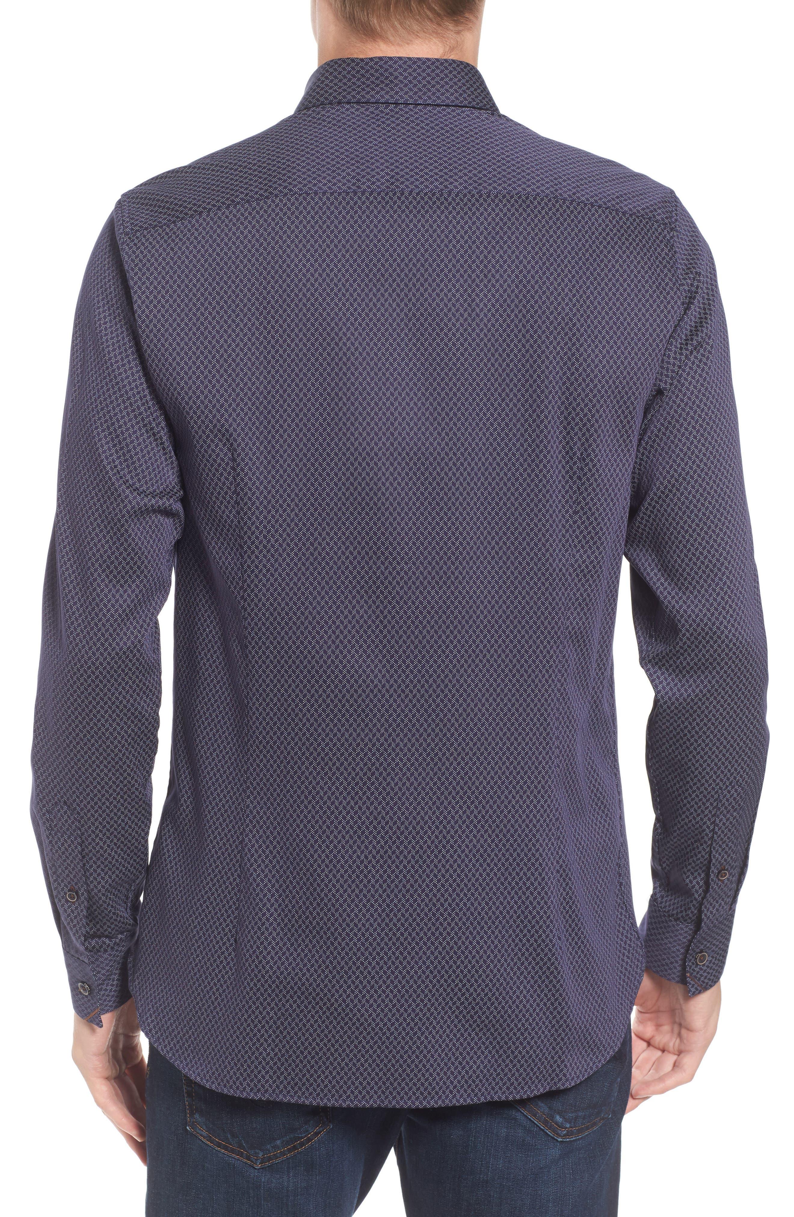 Alternate Image 2  - Ted Baker London Modern Slim Fit Print Sport Shirt