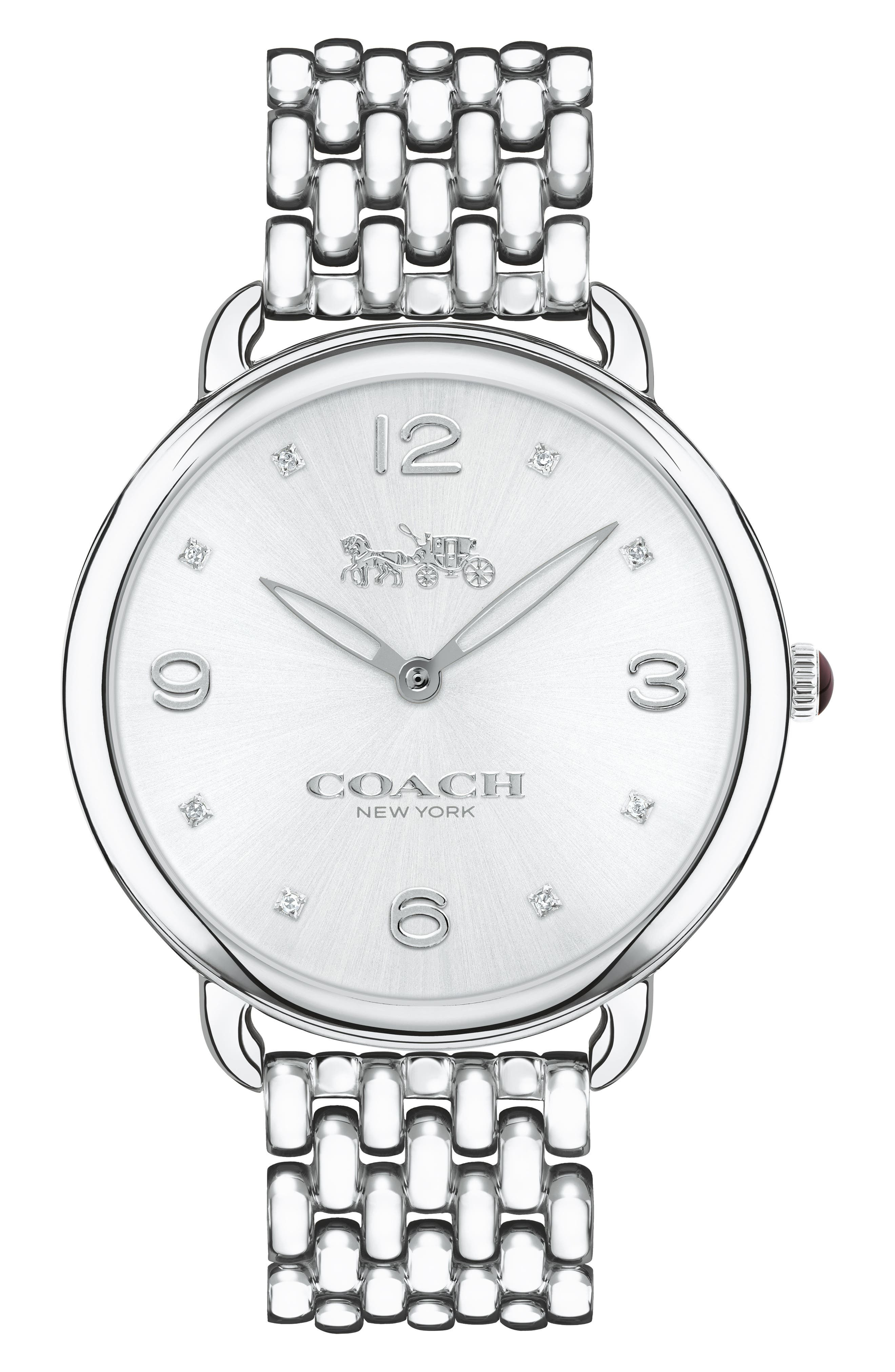 Main Image - COACH Delancey Slim Diamond Bracelet Watch, 37mm
