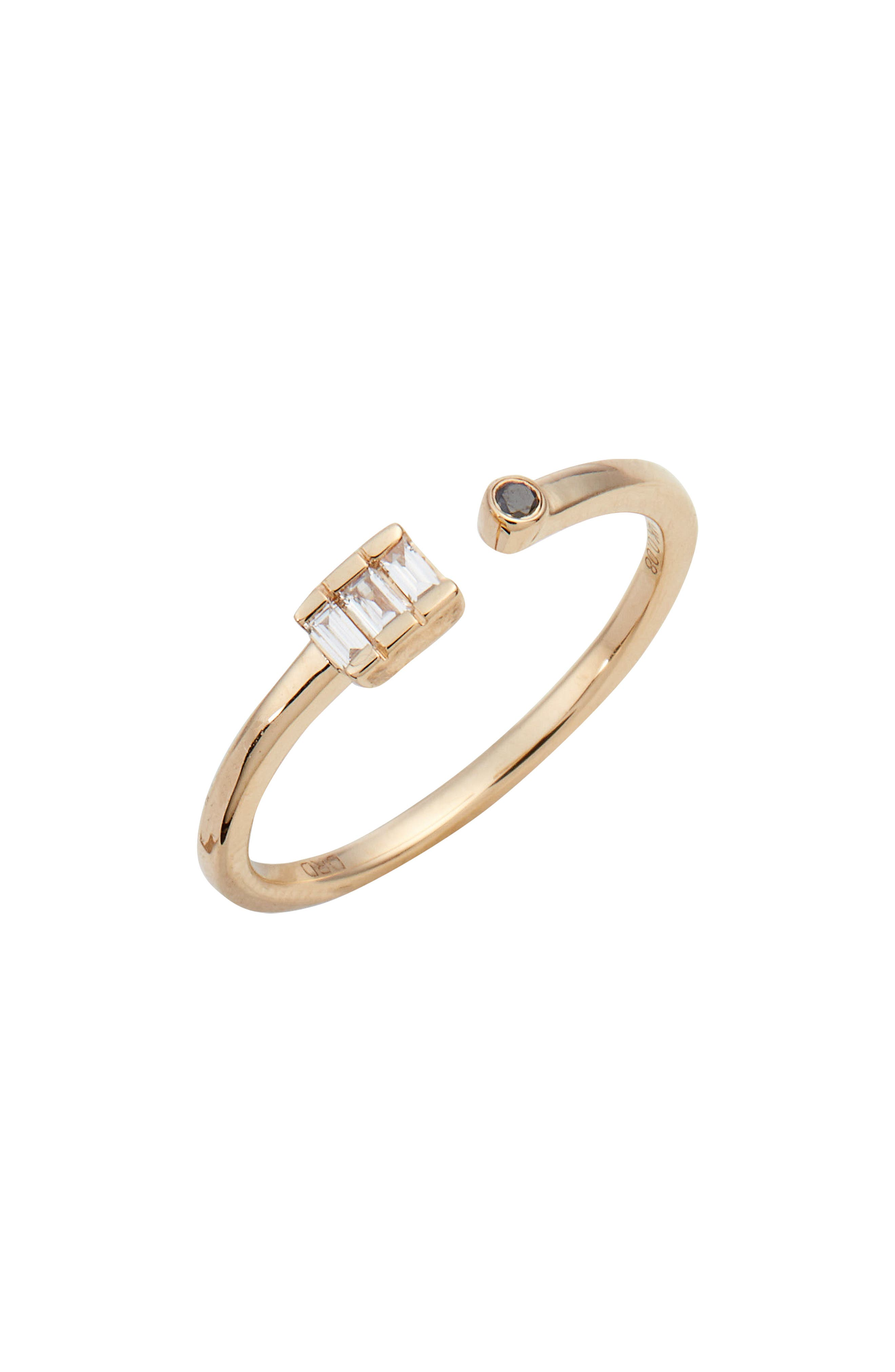 Sadie Diamond Bypass Ring,                         Main,                         color, Yellow Gold