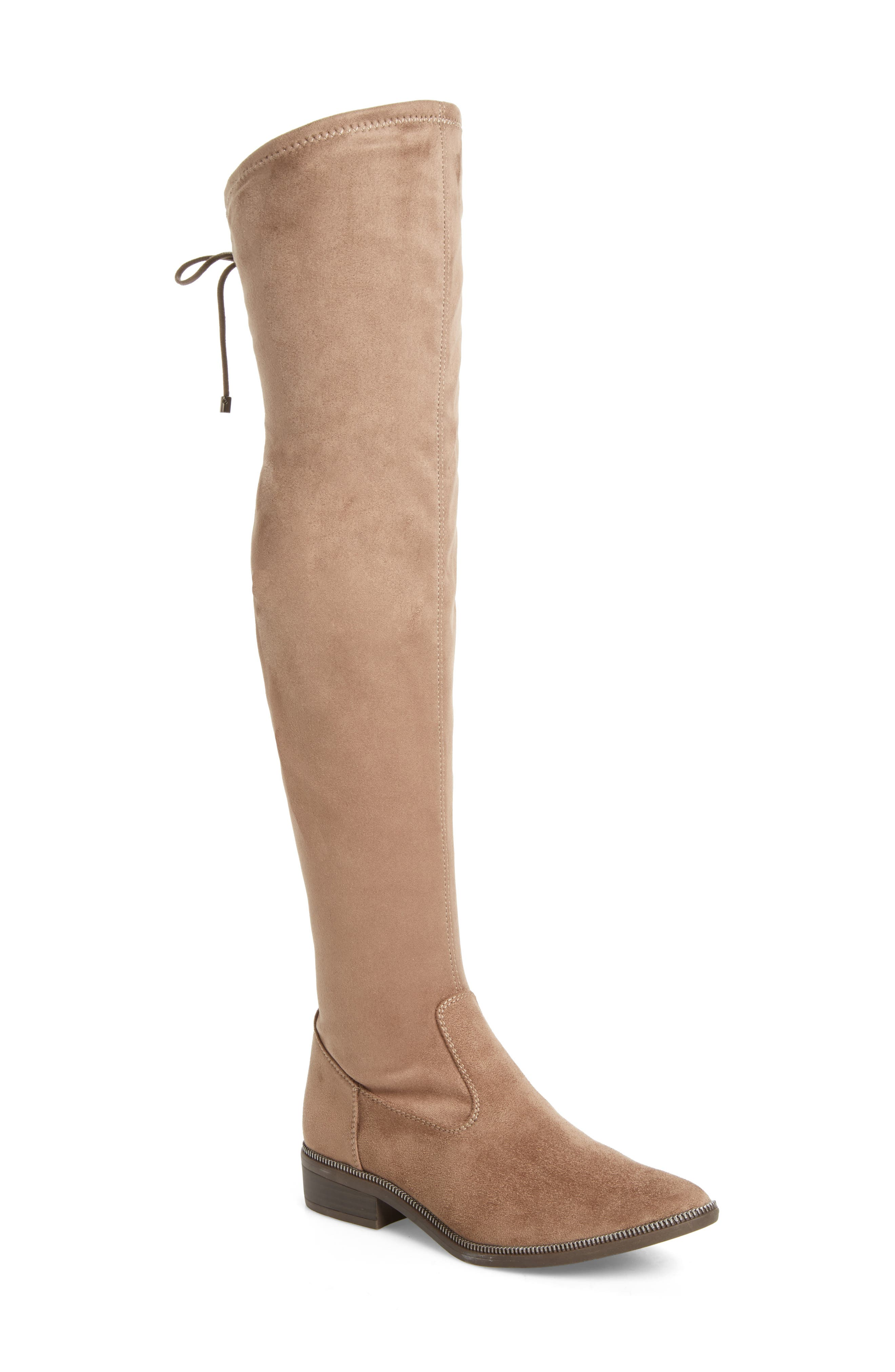Phanie Over the Knee Stretch Boot,                             Main thumbnail 1, color,                             Dune Fabric