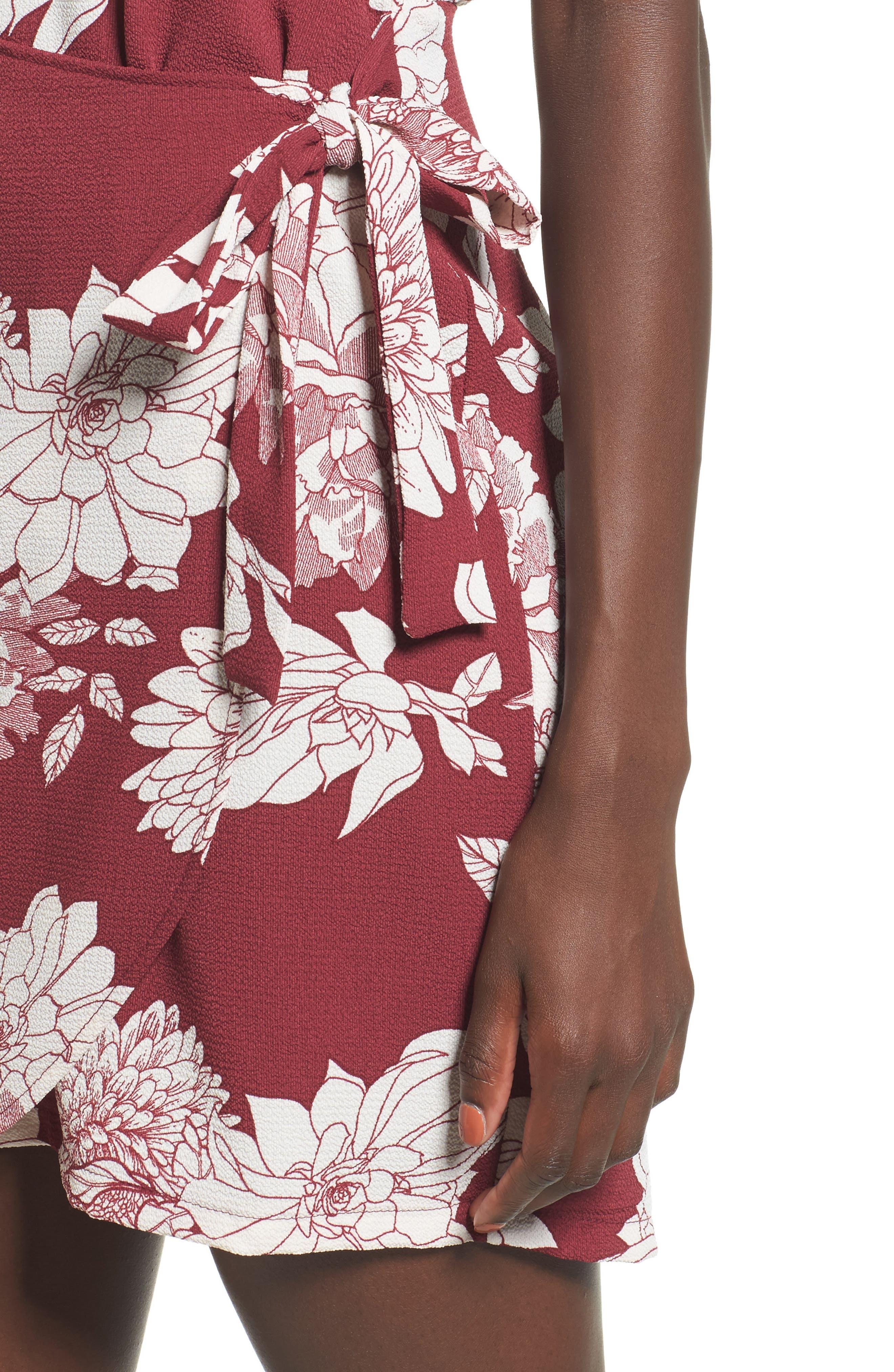 Alternate Image 4  - Mimi Chica Wrap Skirt Dress