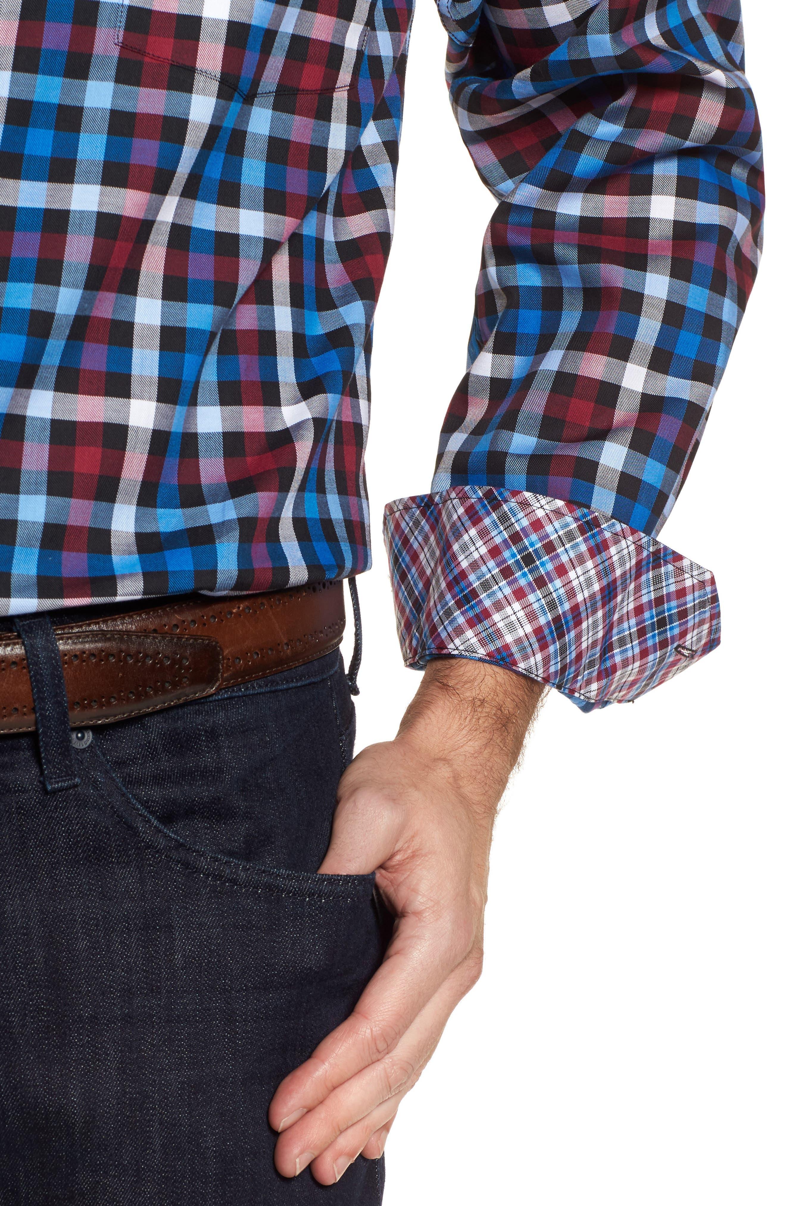 Alternate Image 4  - TailorByrd Brusly Regular Fit Gingham Sport Shirt