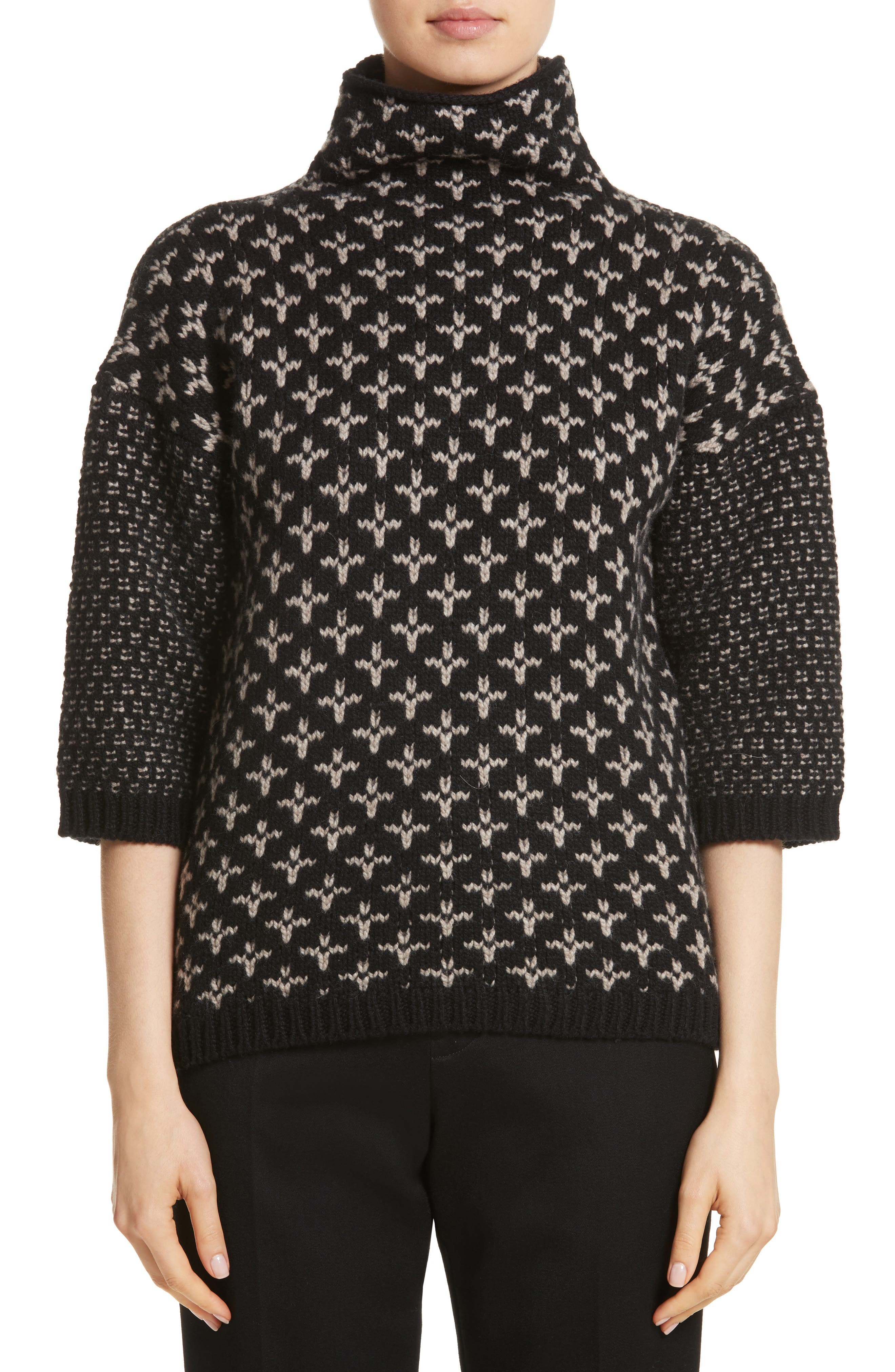 Rana Wool & Cashmere Sweater,                         Main,                         color, Black