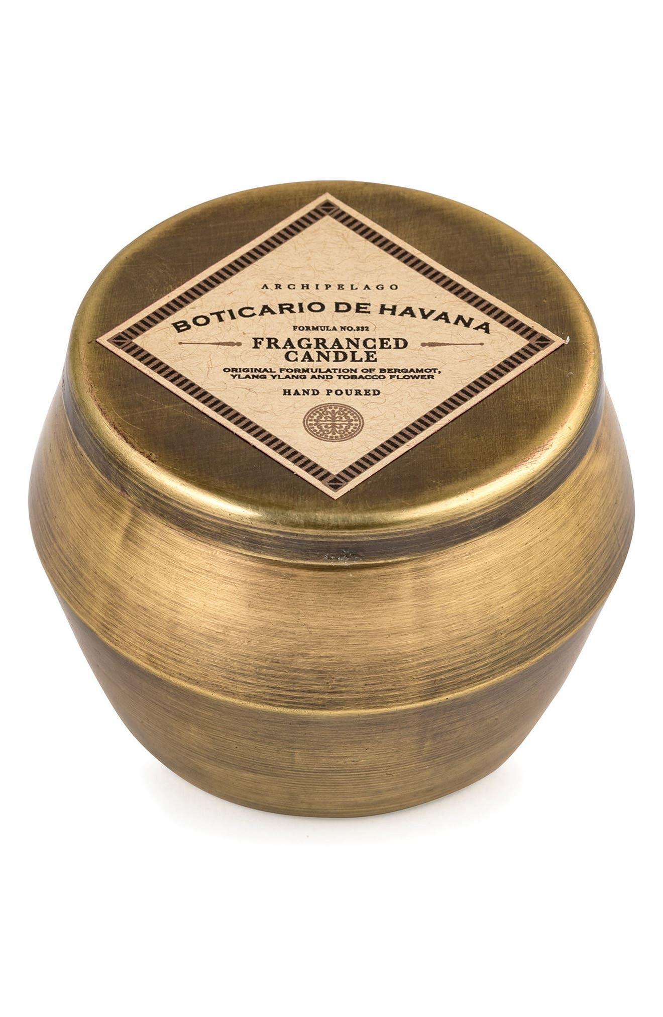 Botanico de Havana Scented Tin Candle,                         Main,                         color, Bronze