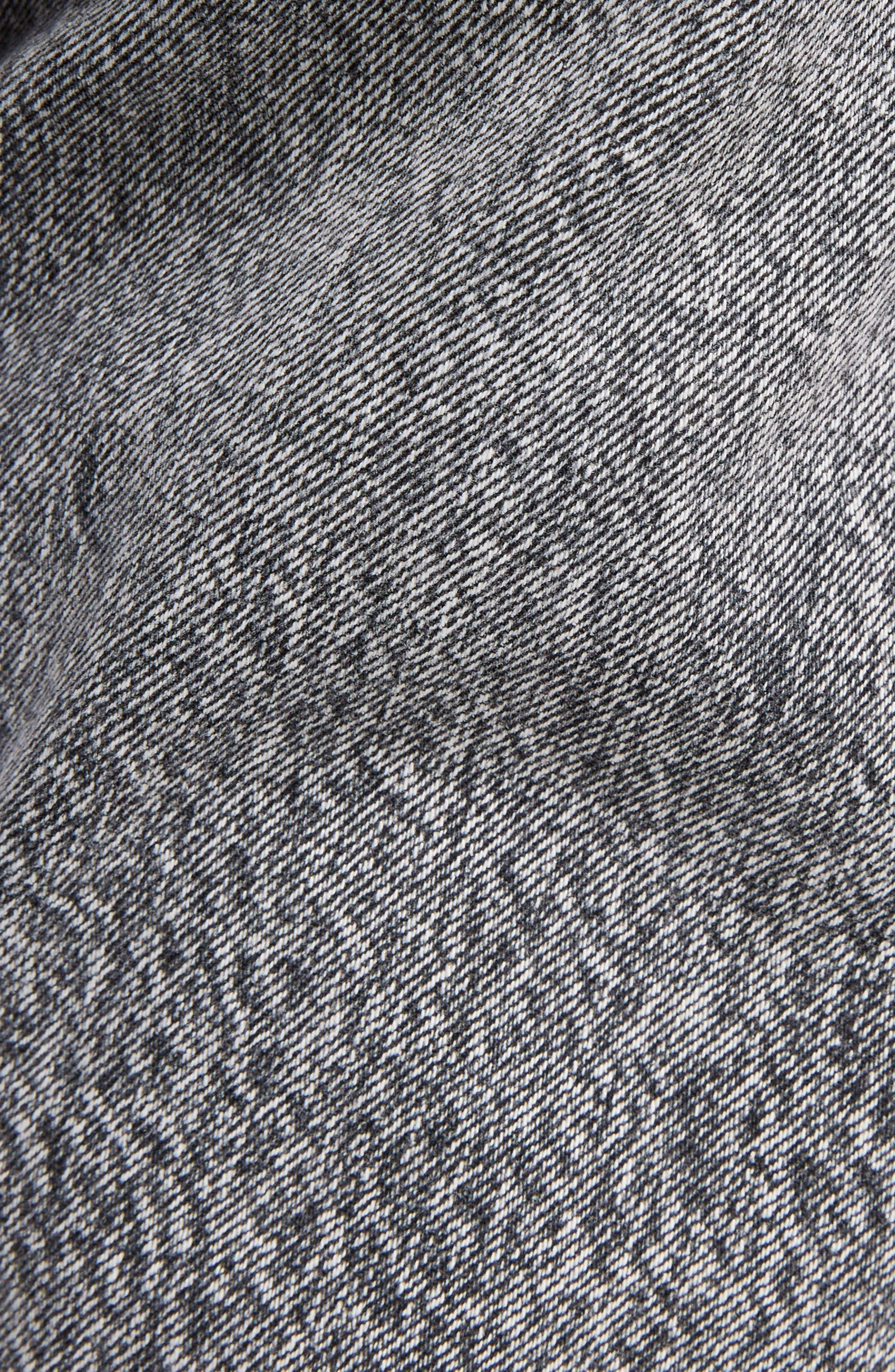 Embroidered Logo Slim Boyfriend Jeans,                             Alternate thumbnail 5, color,                             Black Snow Wash
