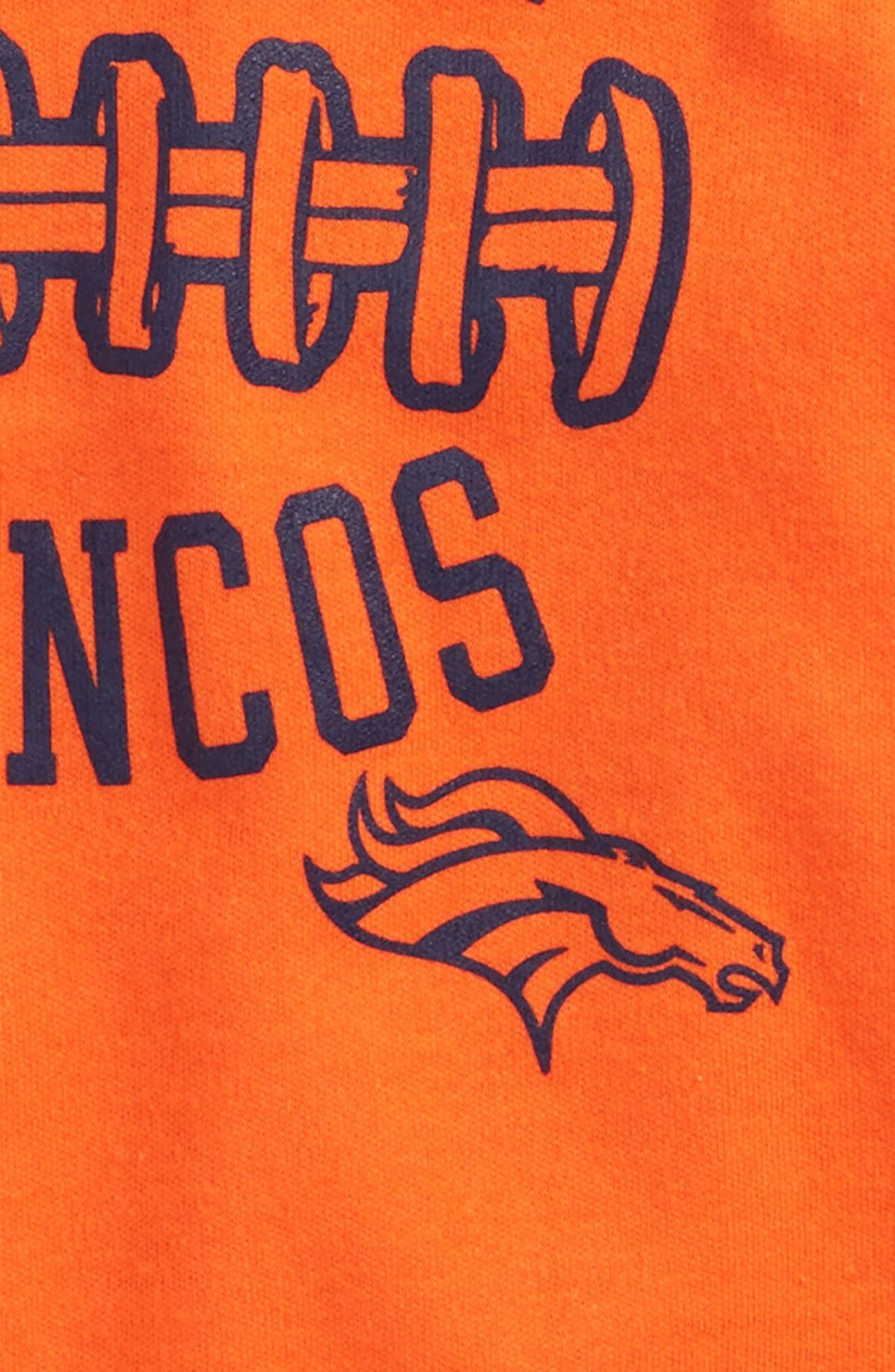 NFL Logo Denver Broncos Fan-Atic Football Bodysuit,                             Alternate thumbnail 2, color,                             Broncos