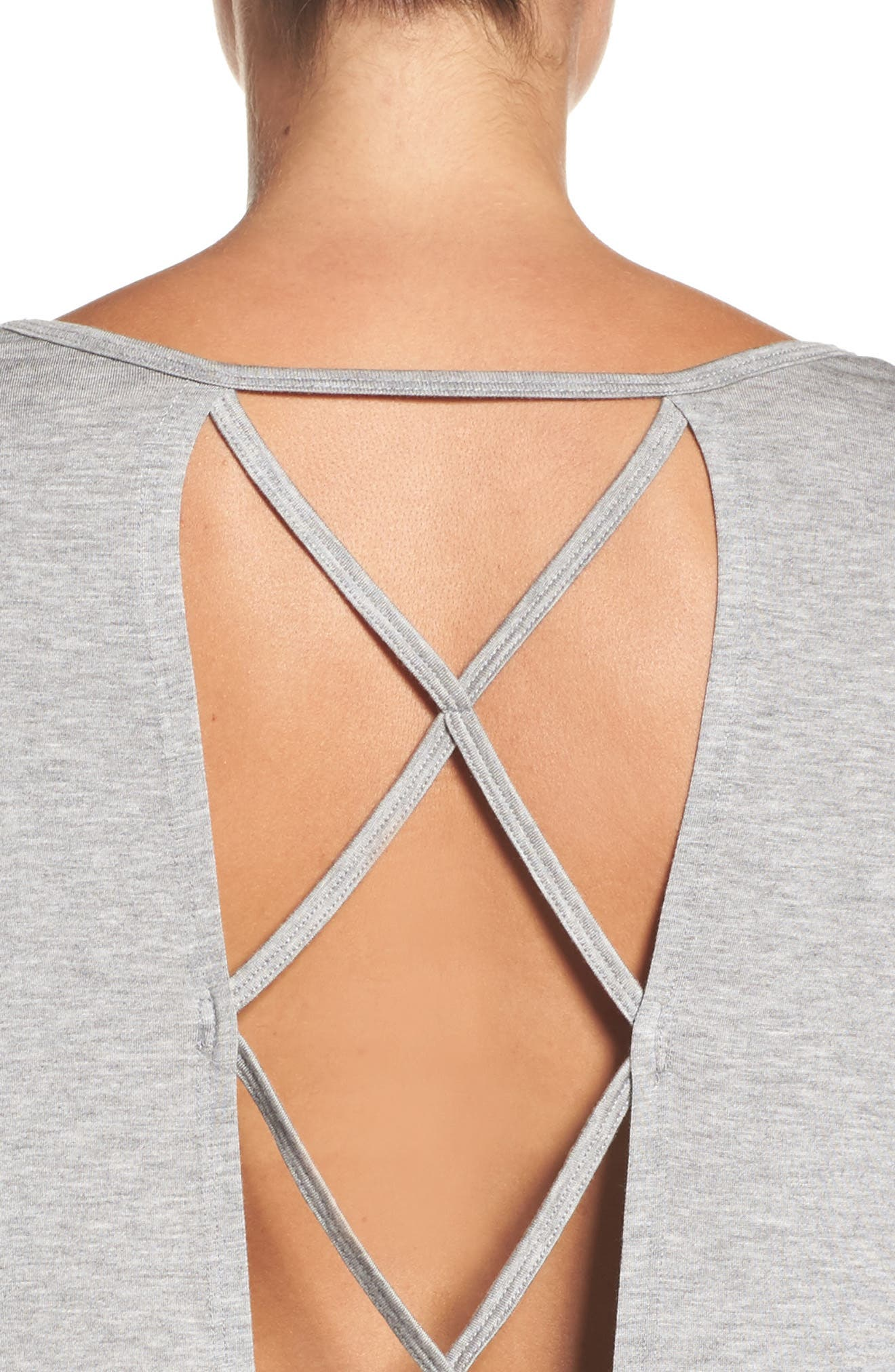 Alternate Image 4  - Beyond Yoga Back Out Cross Back Tee