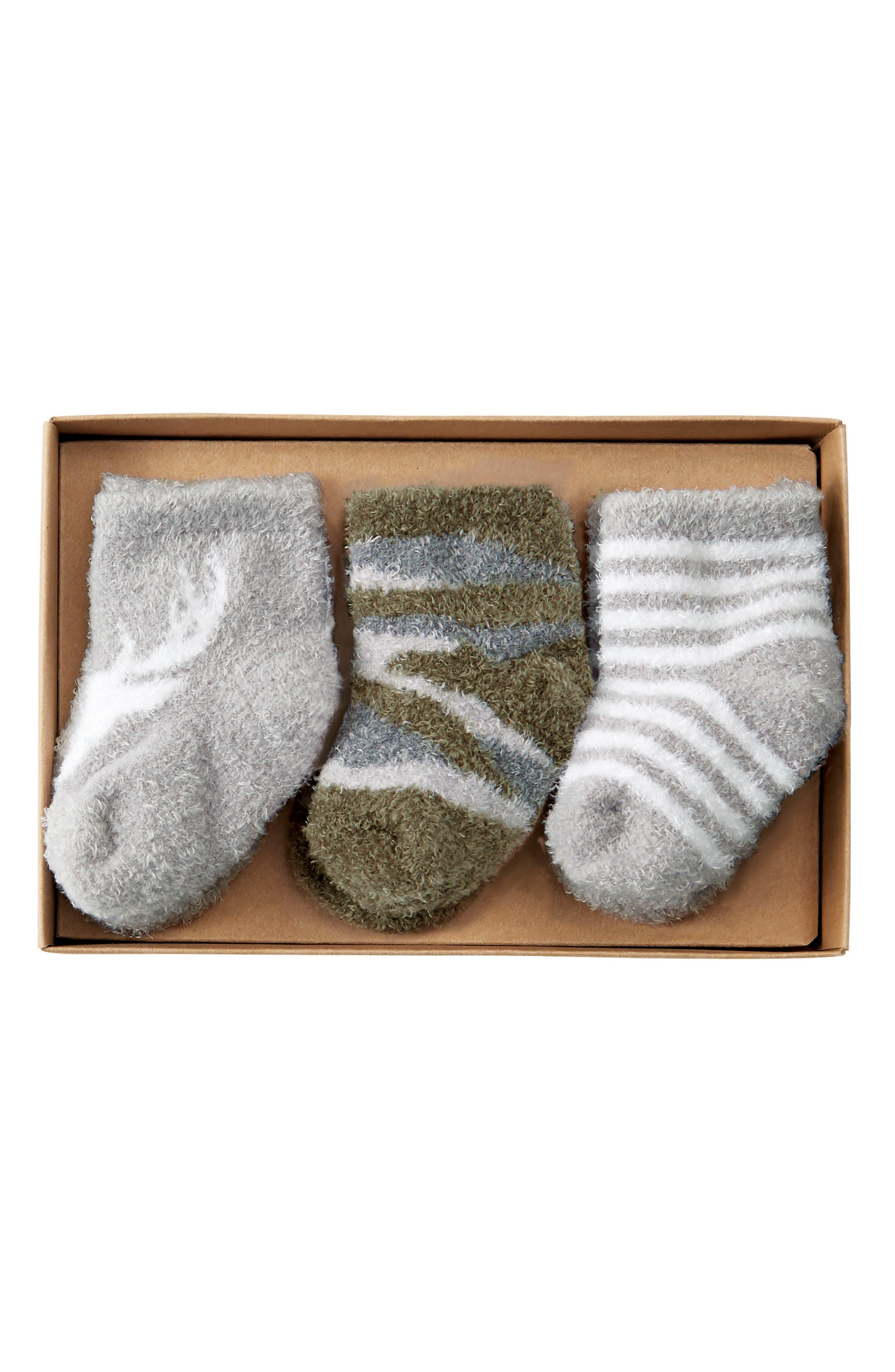 Mud Pie Little Deer 3-Pack Socks (Baby)