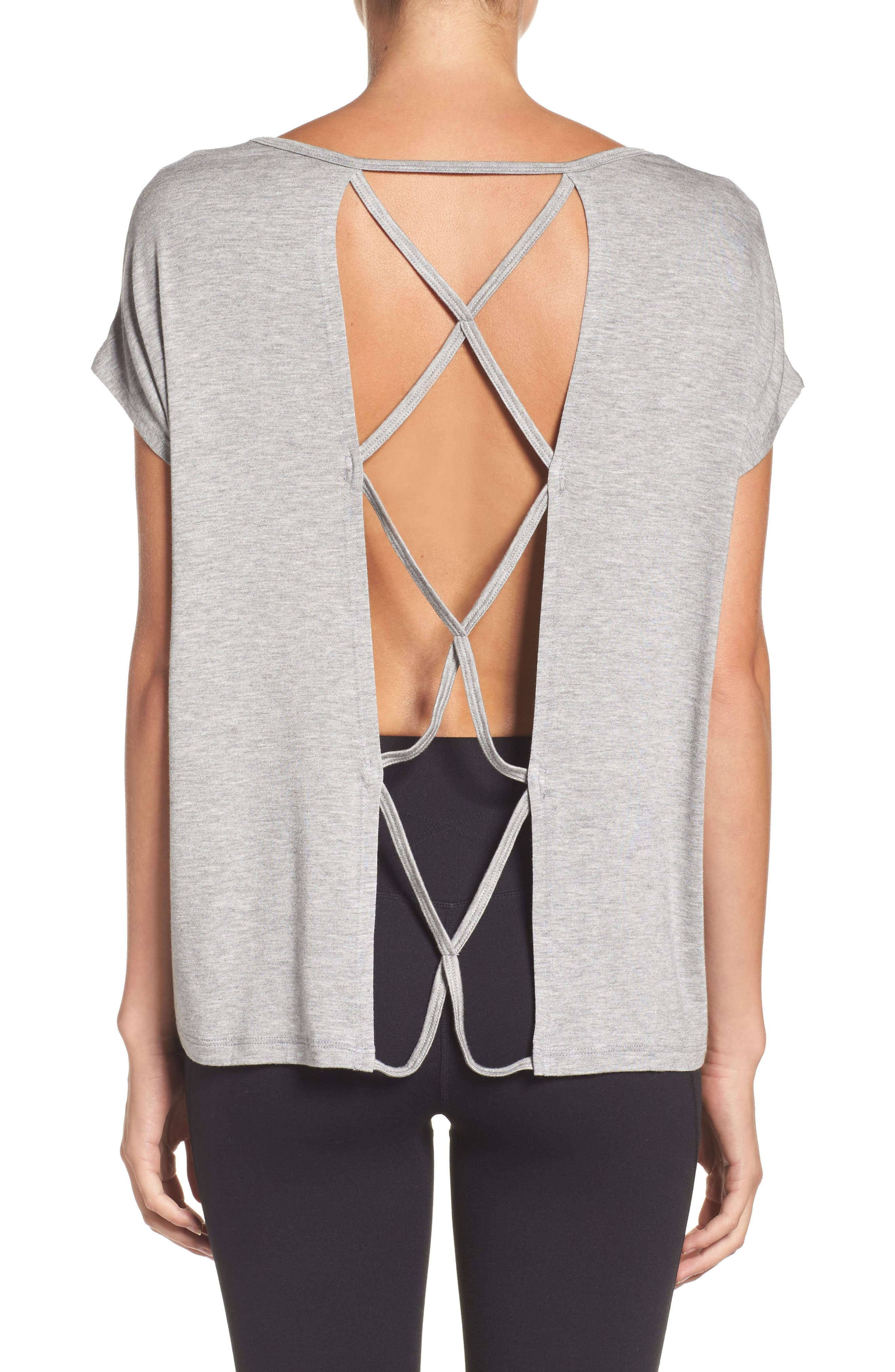 Alternate Image 2  - Beyond Yoga Back Out Cross Back Tee