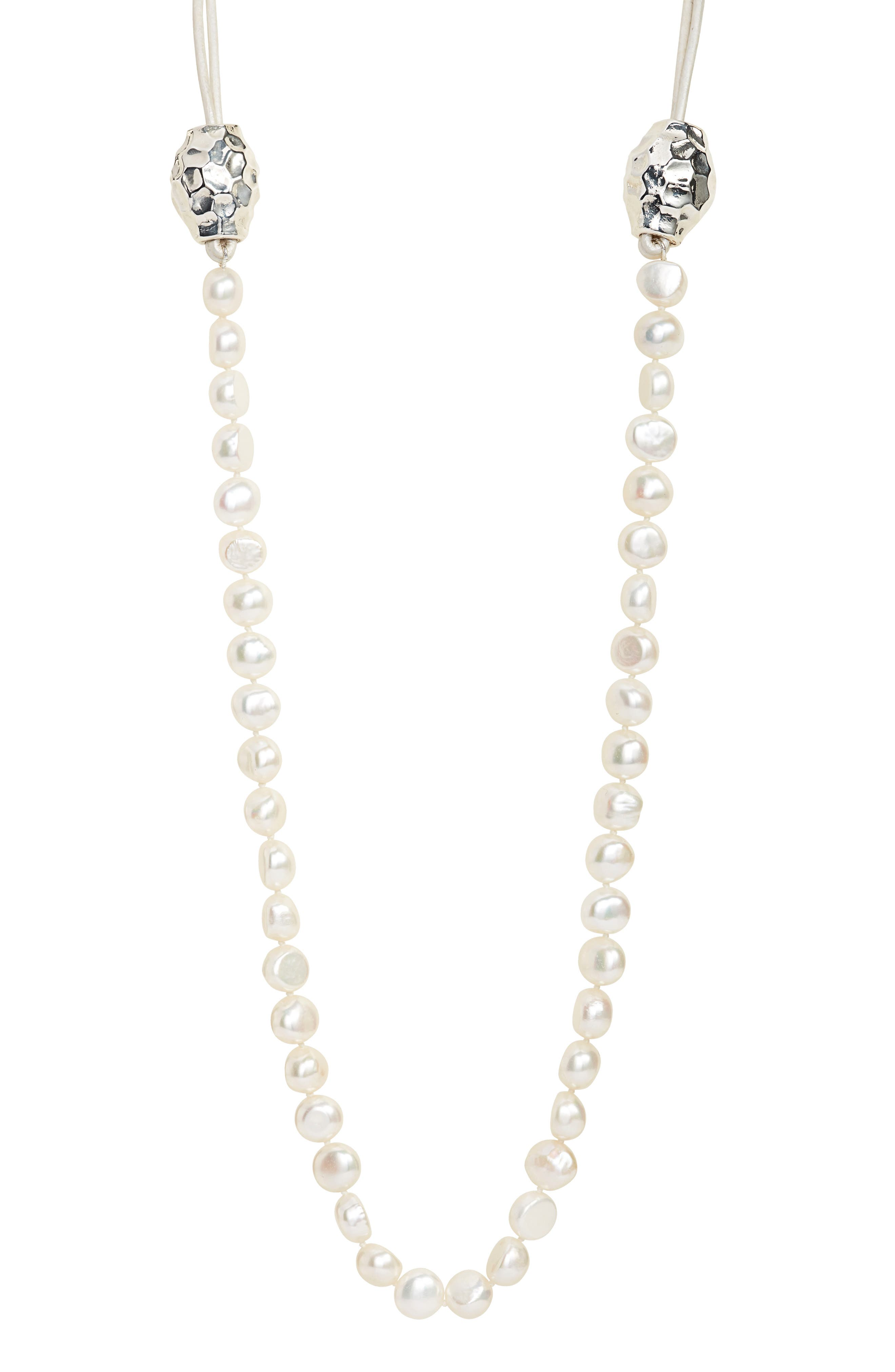 Alternate Image 2  - Simon Sebbag Beaded Leather Necklace