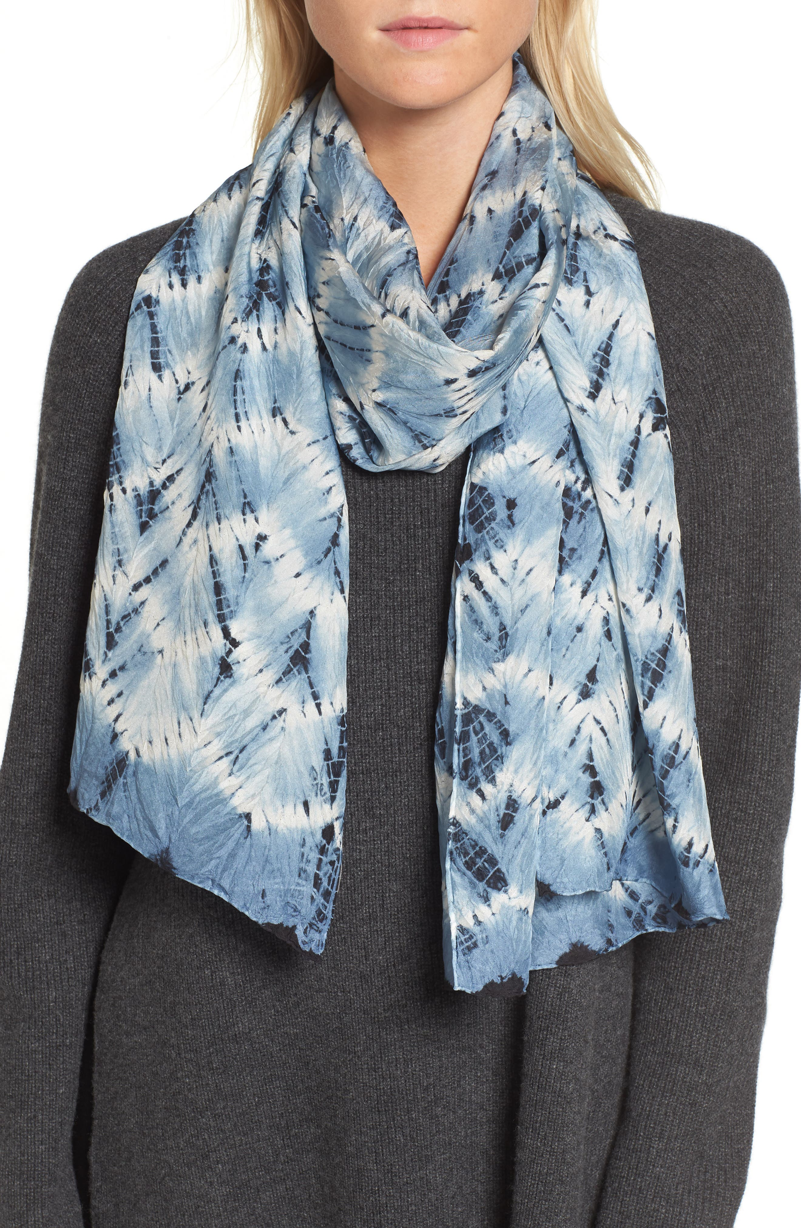 Eileen Fisher 'Tempo' Silk Scarf
