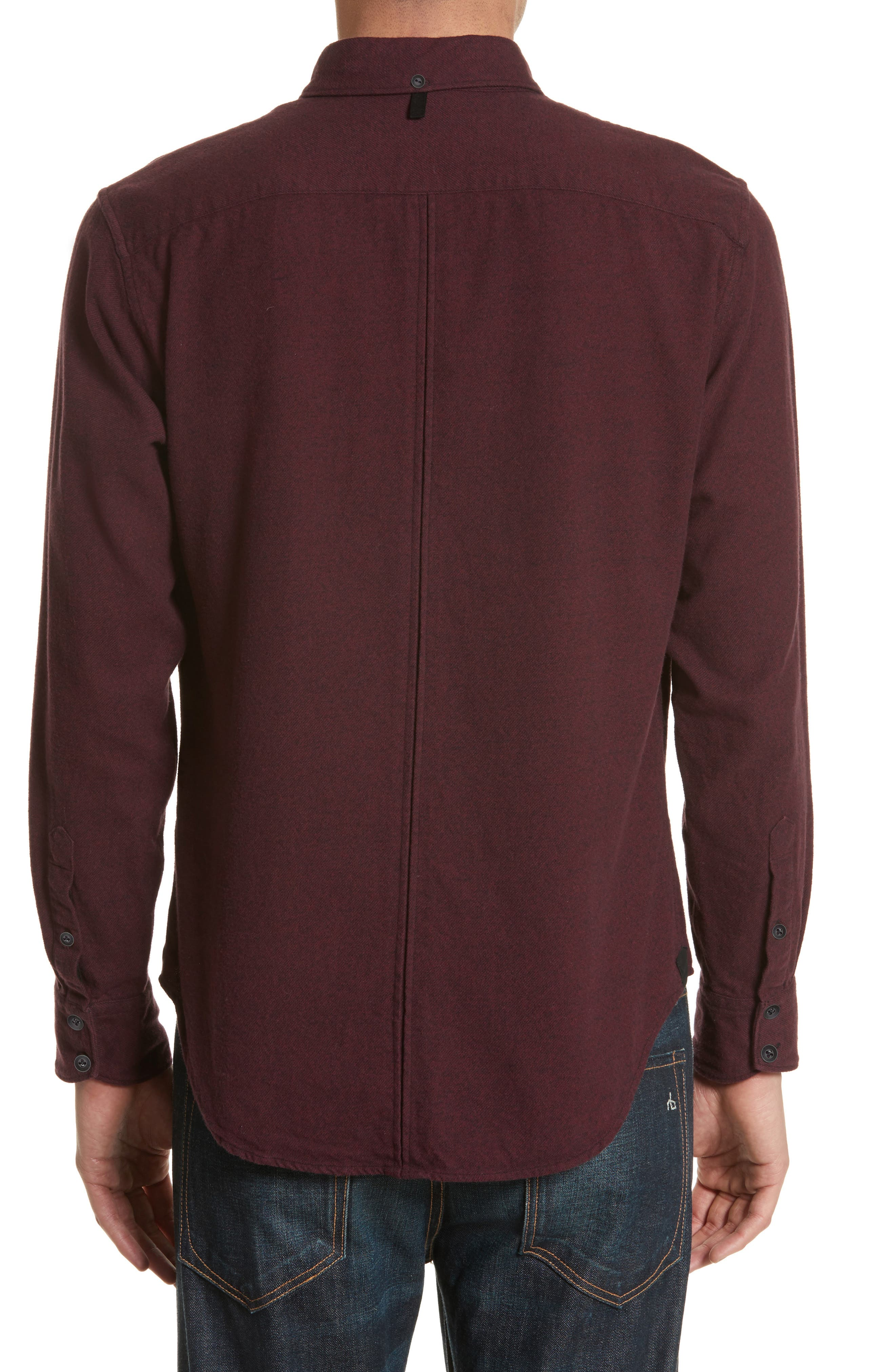Fit 2 Base Woven Shirt,                             Alternate thumbnail 2, color,                             Burgundy