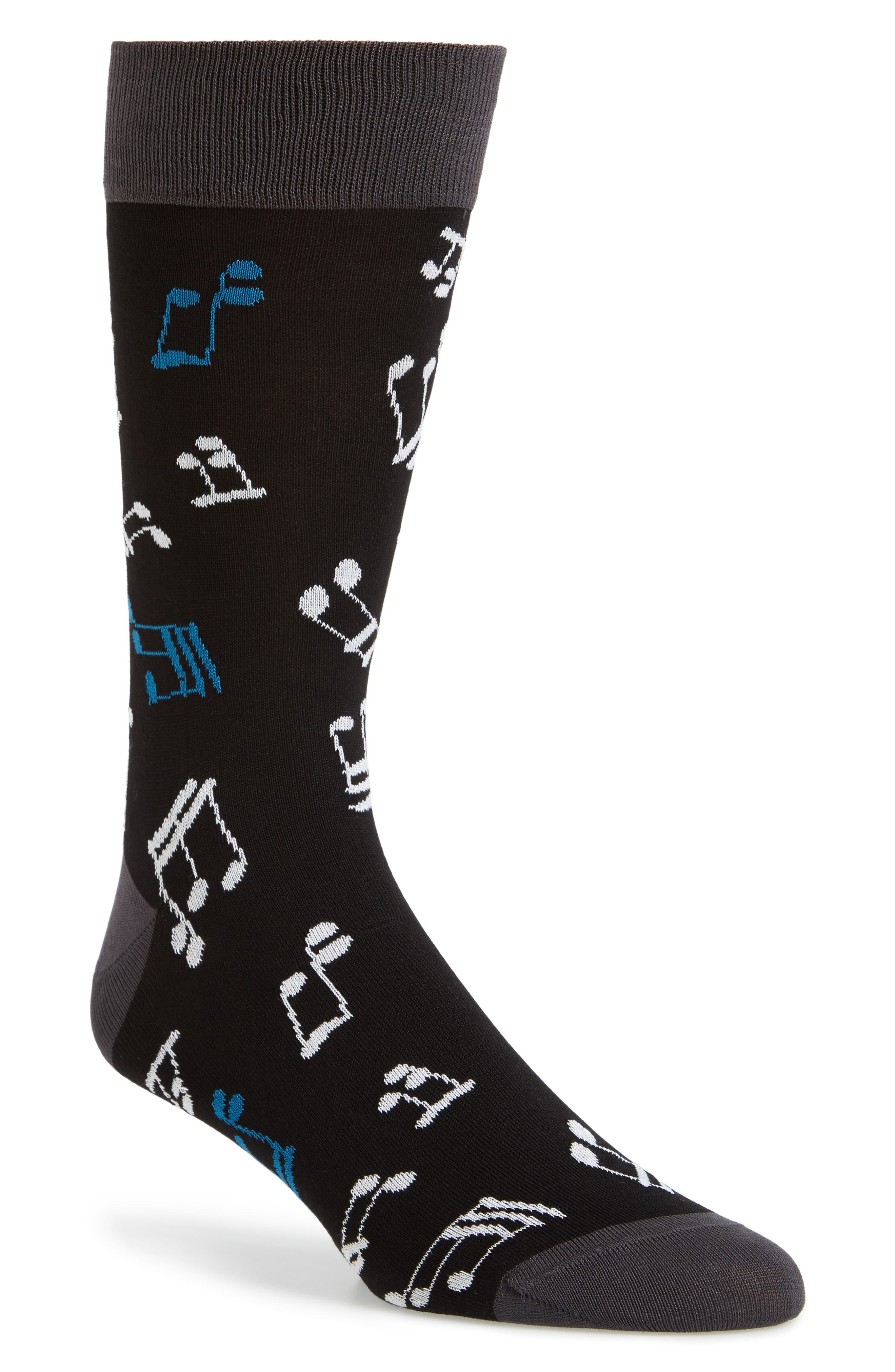Main Image - Bugatchi Musical Note Socks