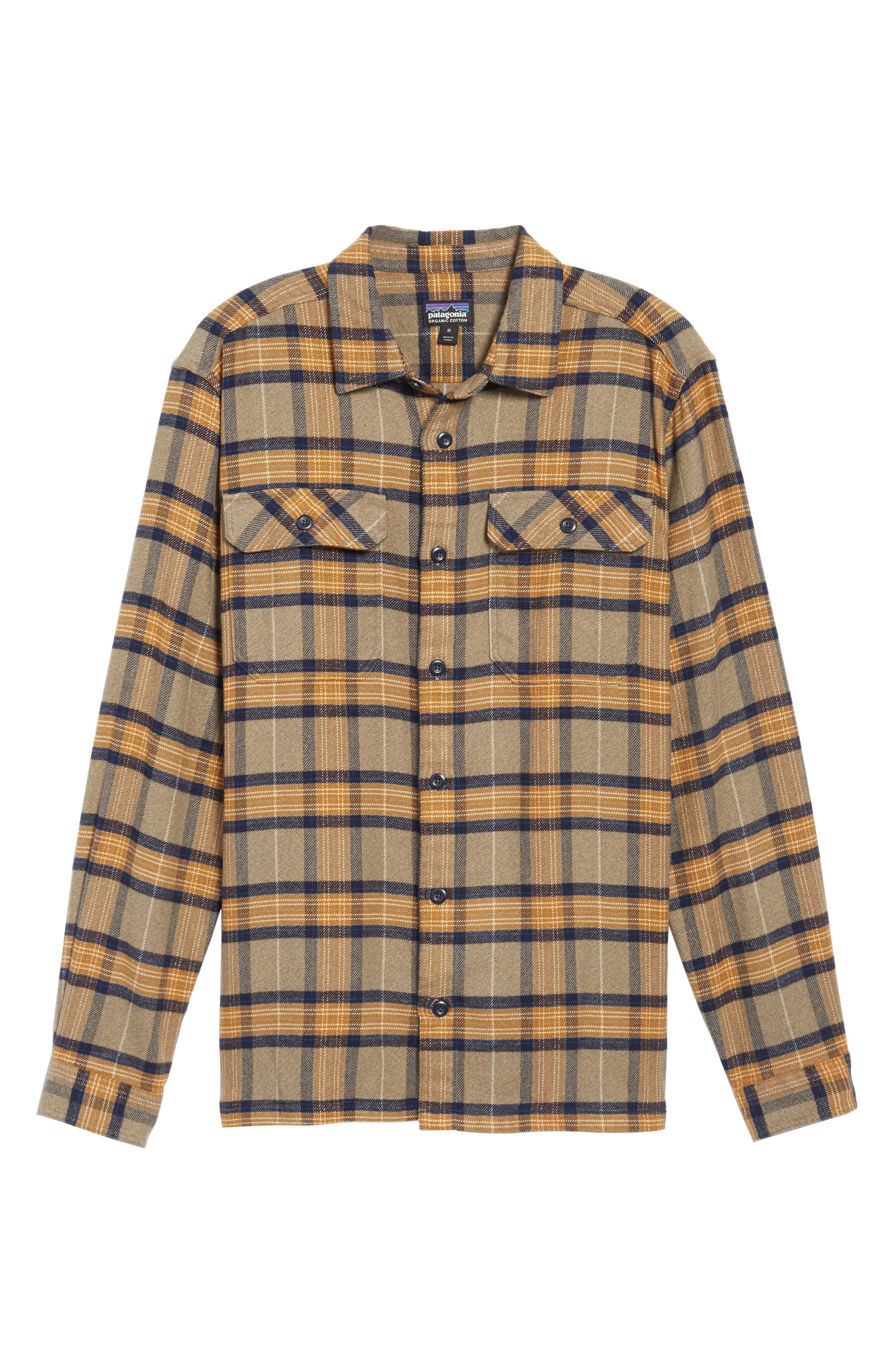 Patagonia 'Fjord' Regular Fit Organic Cotton Flannel Shirt