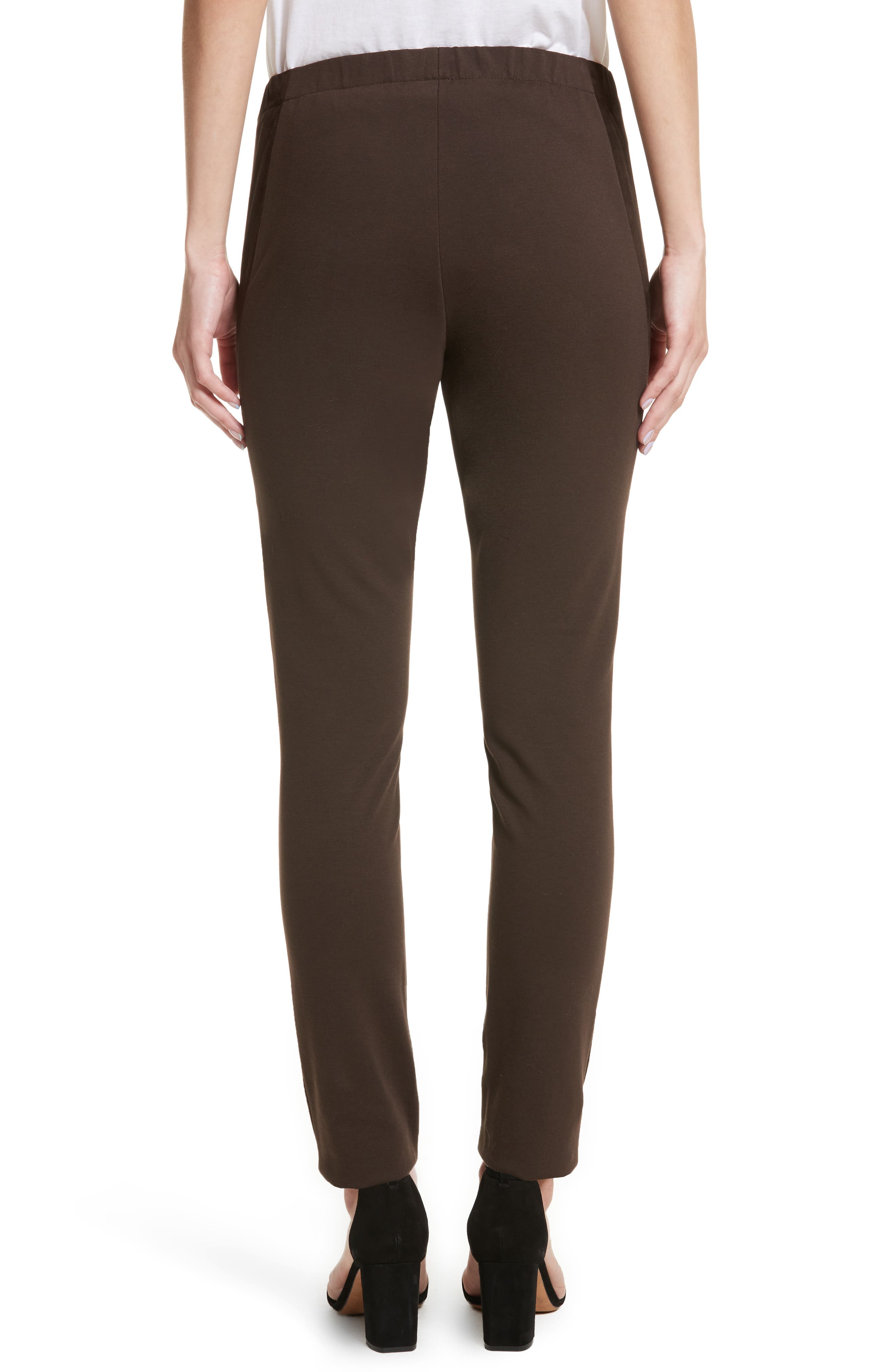 Alternate Image 3  - Lafayette 148 New York Suede Front Punto Milano Riding Leggings