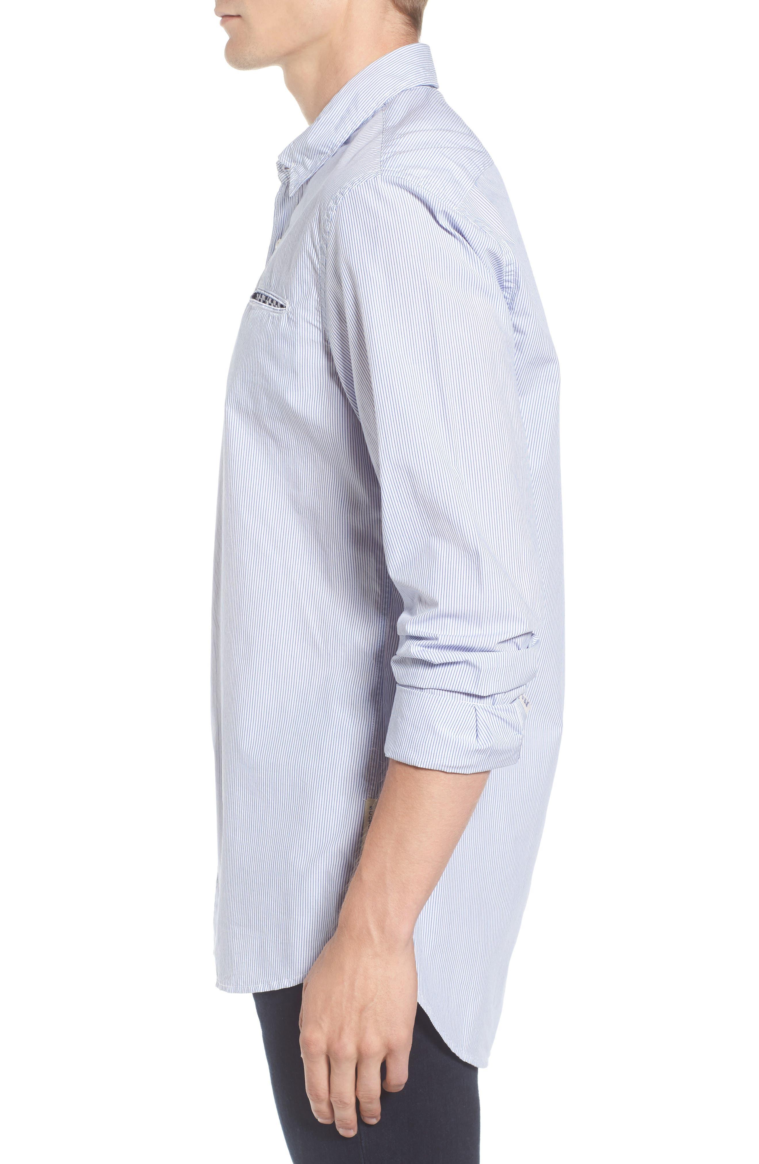 Alternate Image 3  - Scotch & Soda Woven Stripe Shirt