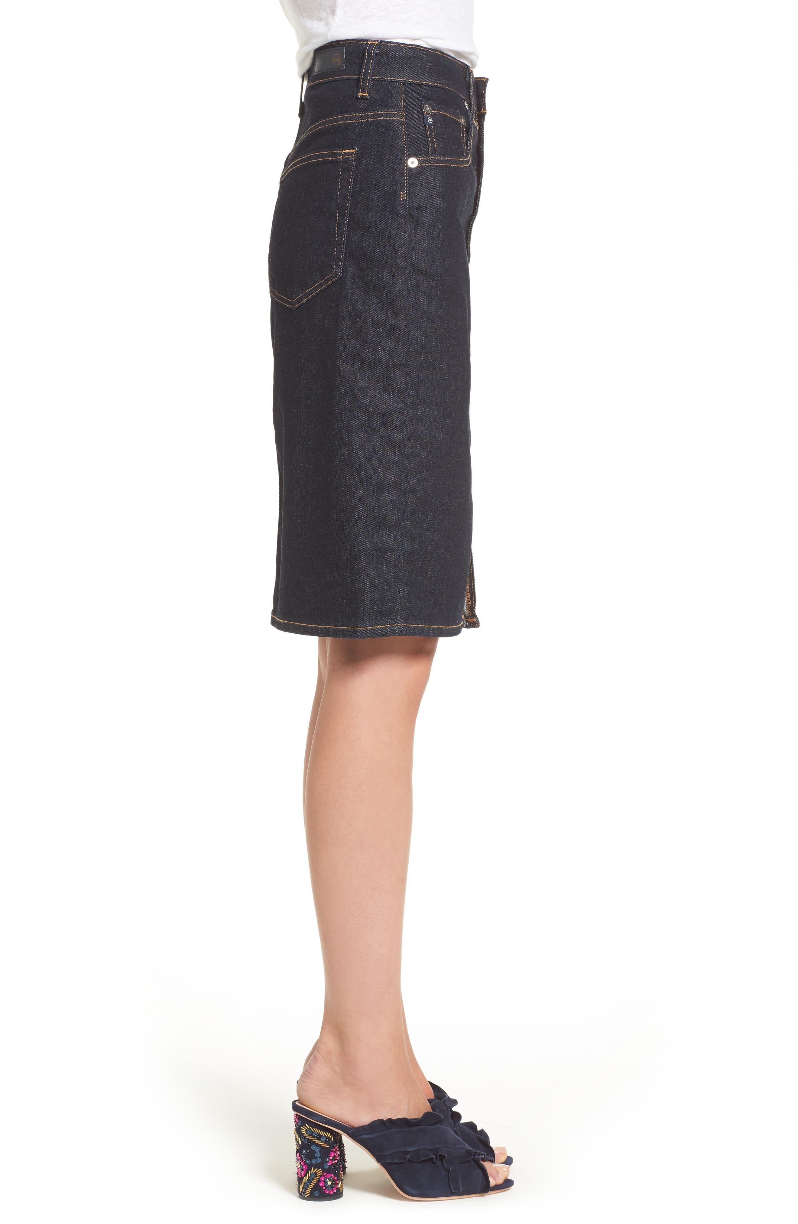 Alternate Image 3  - AG Emery High Waist Denim Skirt
