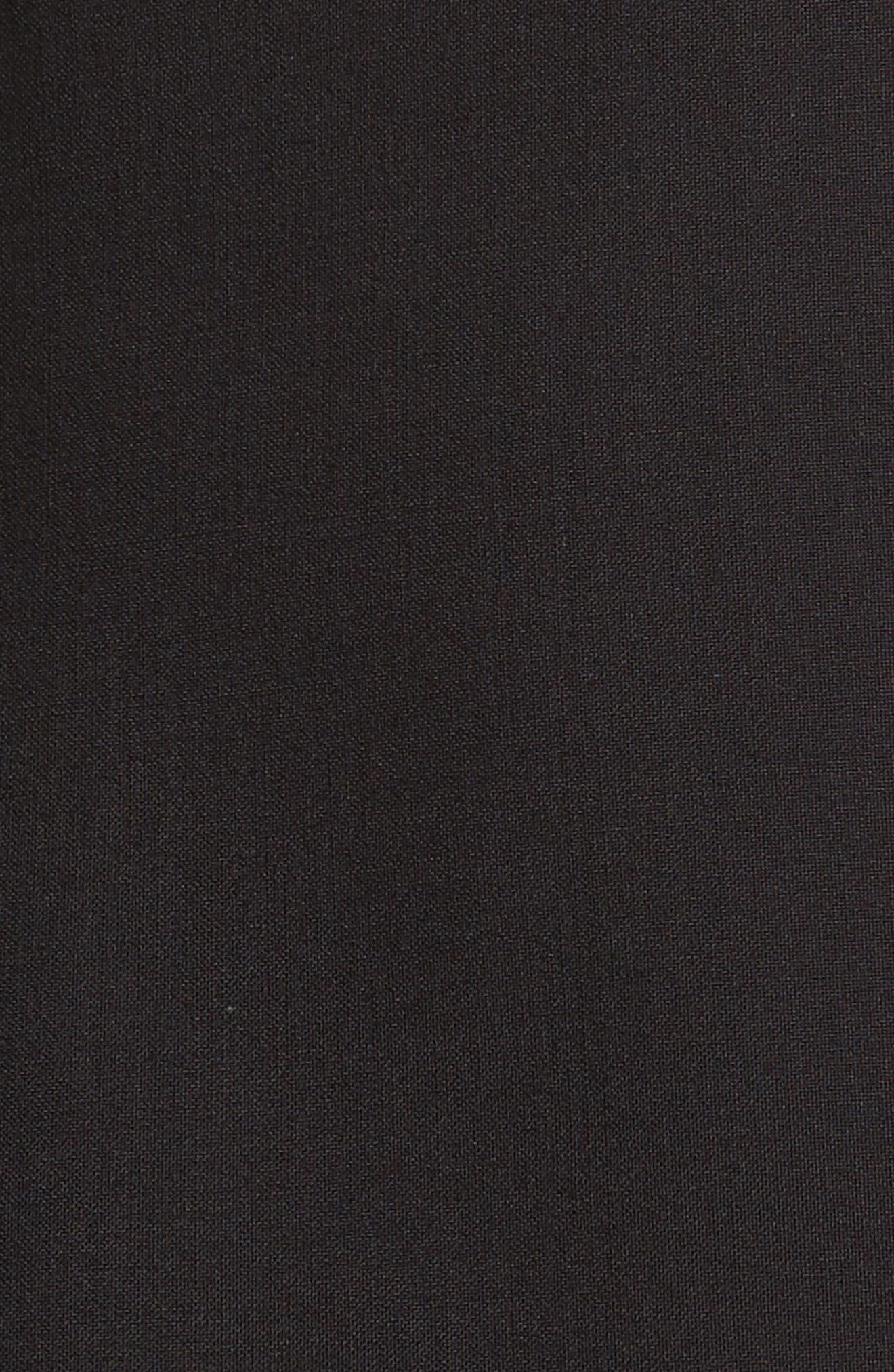 Forsaken Frill Sleeve Jacket,                             Alternate thumbnail 6, color,                             Black