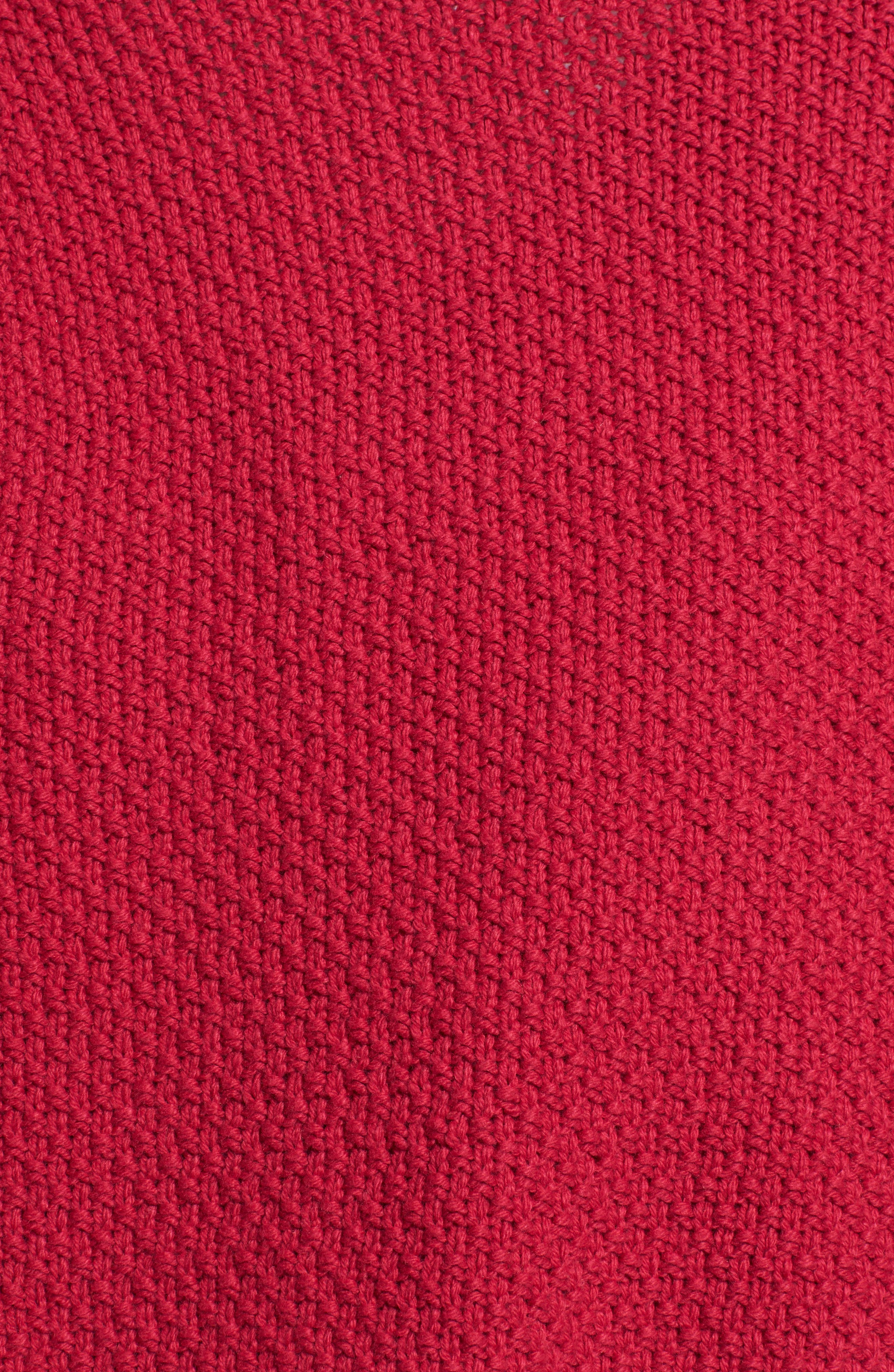 Power Cable Sweater,                             Alternate thumbnail 5, color,                             Red Cerise